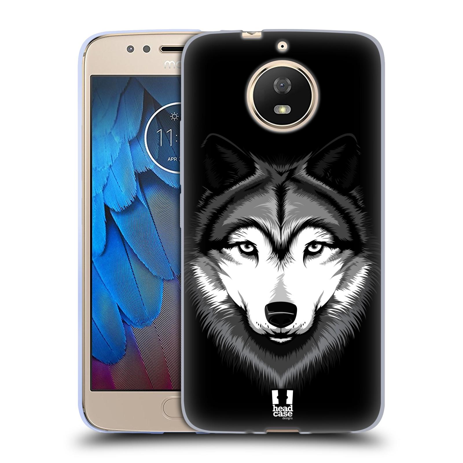 Silikonové pouzdro na mobil Lenovo Moto G5s - Head Case - ILUSTROVANÝ VLK
