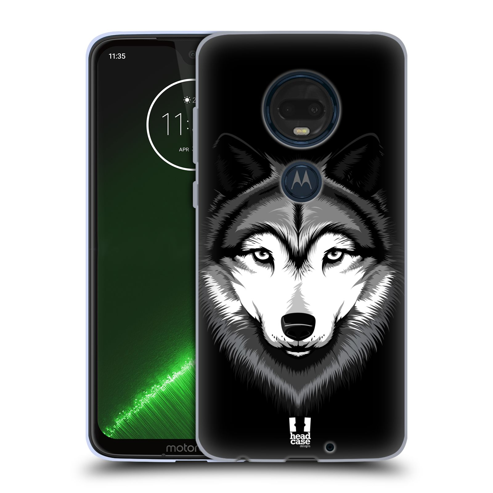 Silikonové pouzdro na mobil Motorola Moto G7 Plus - Head Case - ILUSTROVANÝ VLK