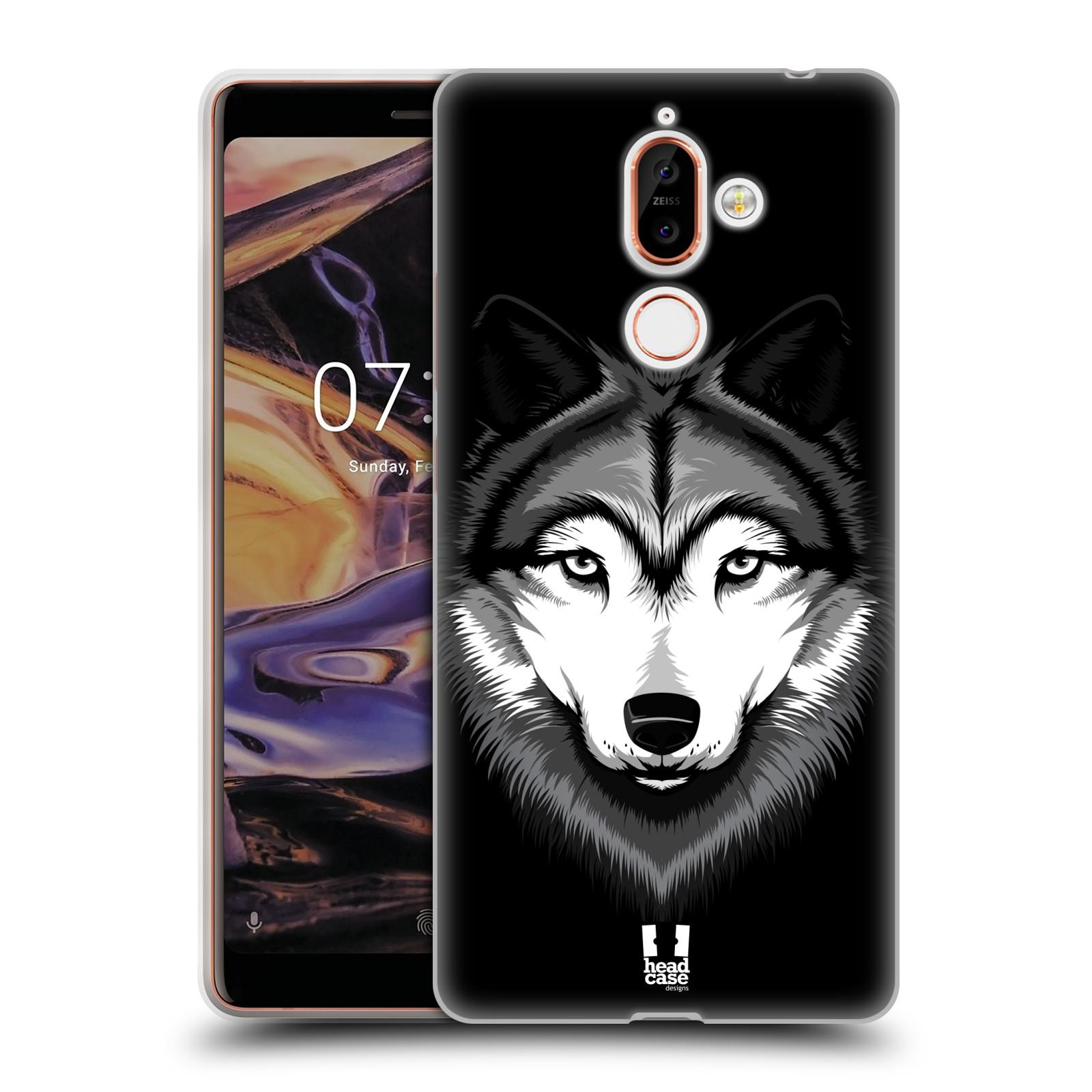 Silikonové pouzdro na mobil Nokia 7 Plus - Head Case - ILUSTROVANÝ VLK