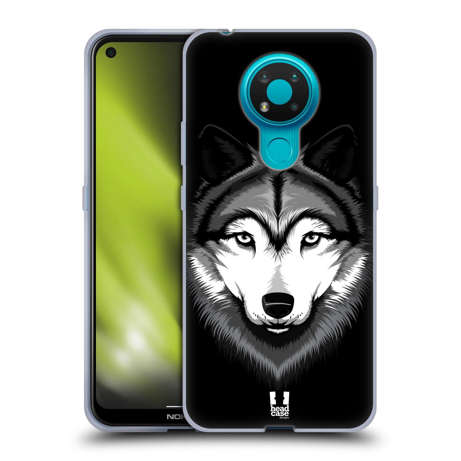 Silikonové pouzdro na mobil Nokia 3.4 - Head Case - ILUSTROVANÝ VLK