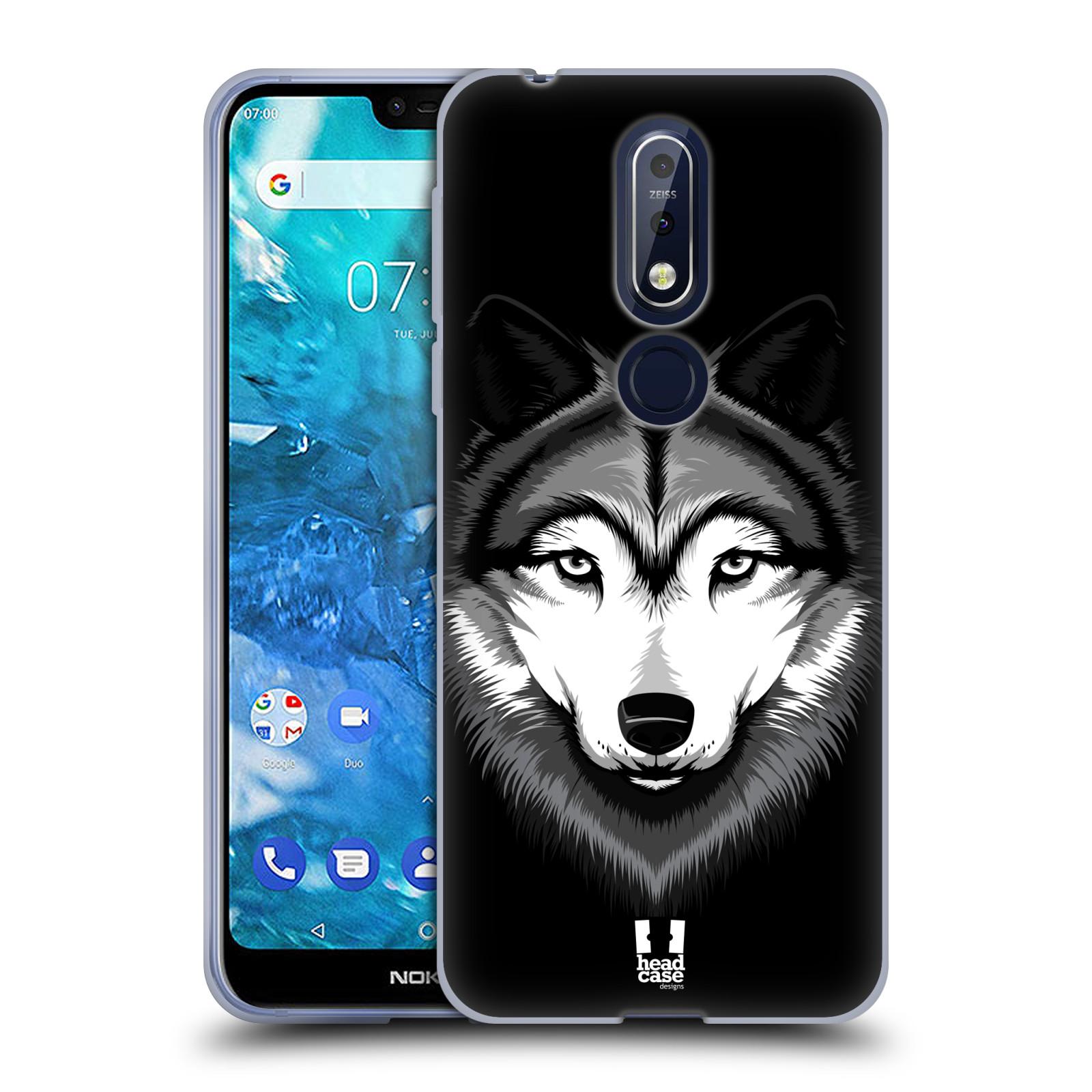 Silikonové pouzdro na mobil Nokia 7.1 - Head Case - ILUSTROVANÝ VLK