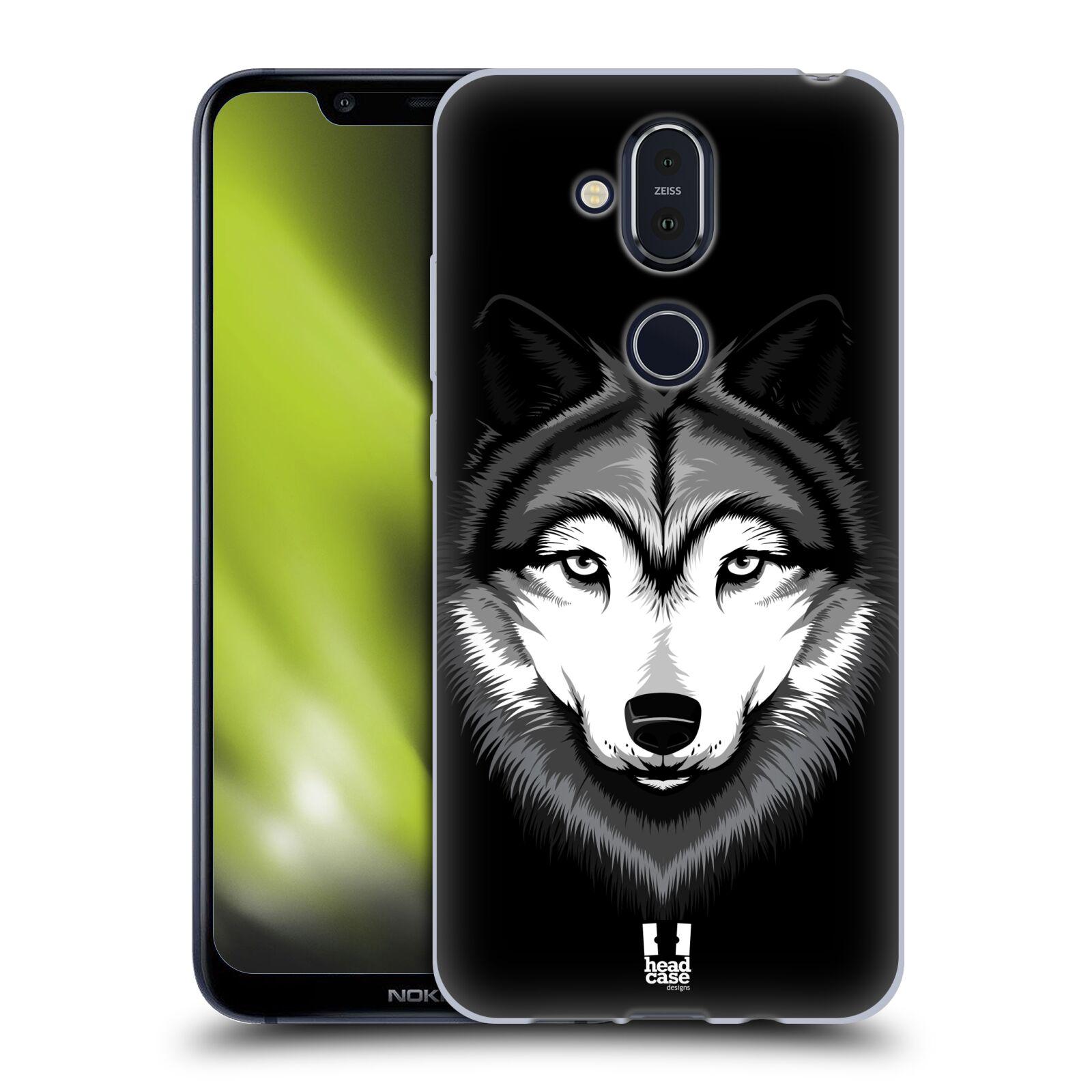 Silikonové pouzdro na mobil Nokia 8.1 - Head Case - ILUSTROVANÝ VLK