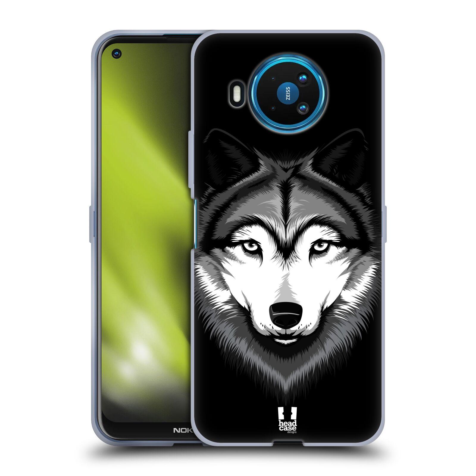 Silikonové pouzdro na mobil Nokia 8.3 5G - Head Case - ILUSTROVANÝ VLK