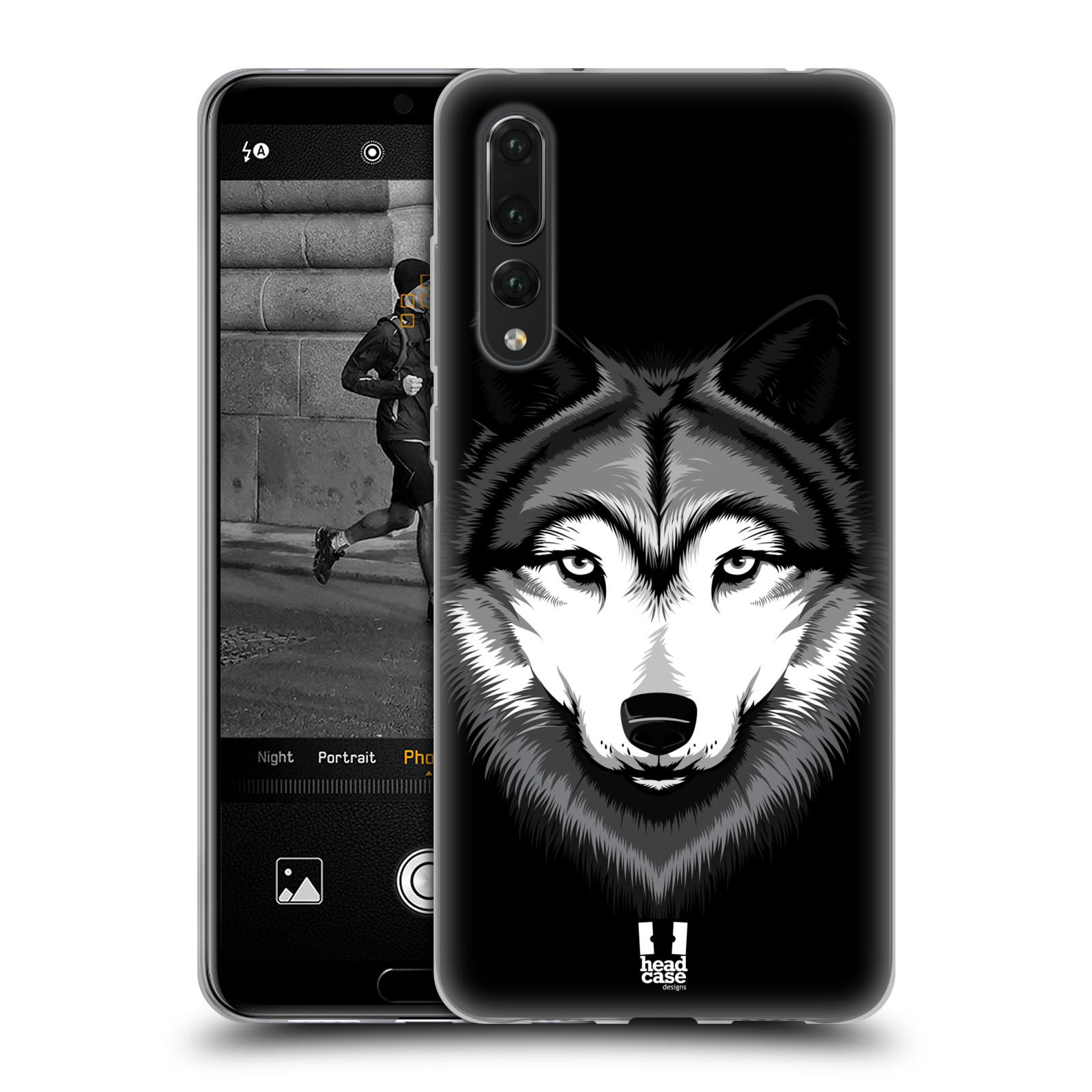 Silikonové pouzdro na mobil Huawei P20 Pro - Head Case - ILUSTROVANÝ VLK (Silikonový kryt či obal na mobilní telefon Huawei P20 Pro Dual SIM s motivem ILUSTROVANÝ VLK)
