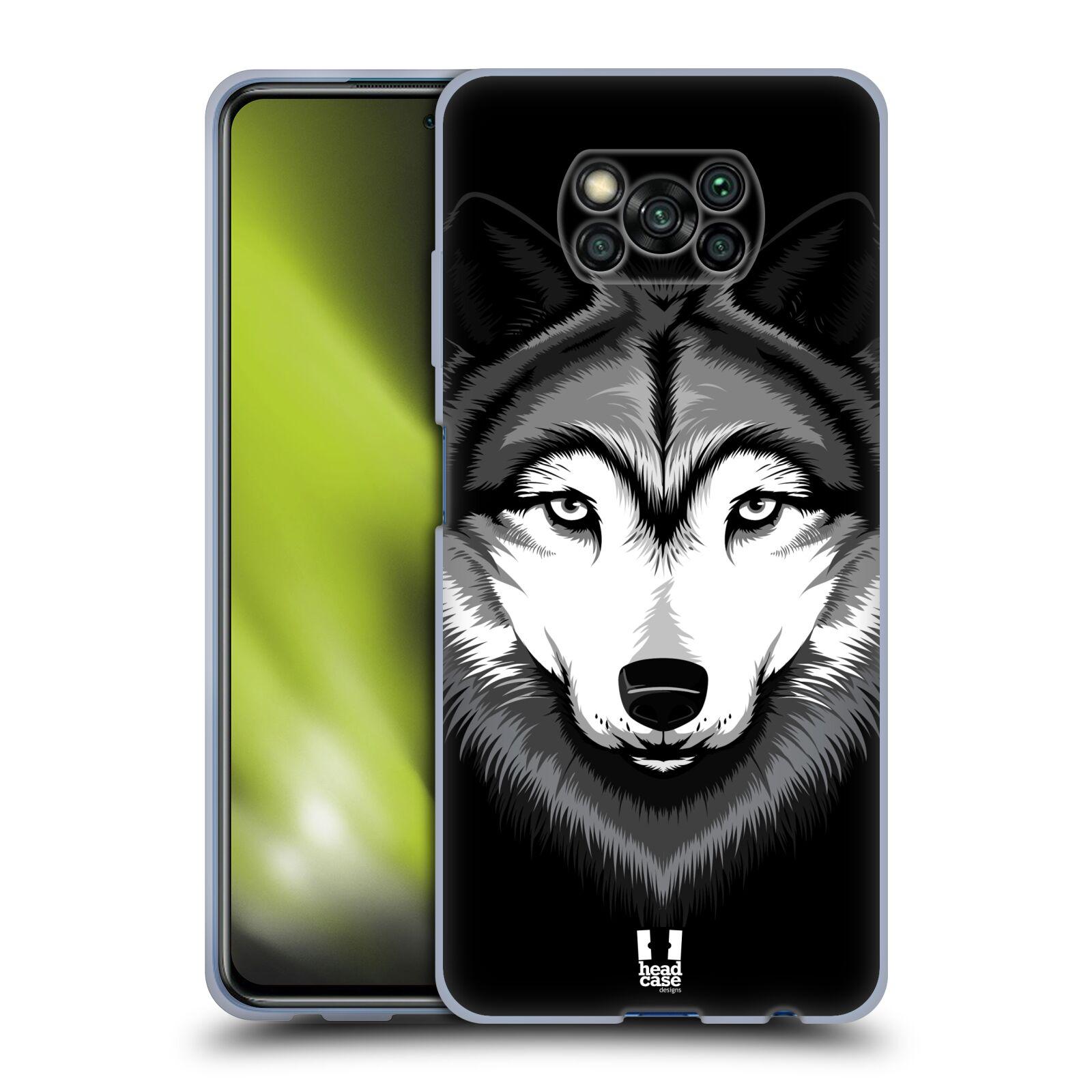 Silikonové pouzdro na mobil Xiaomi Poco X3 NFC - Head Case - ILUSTROVANÝ VLK