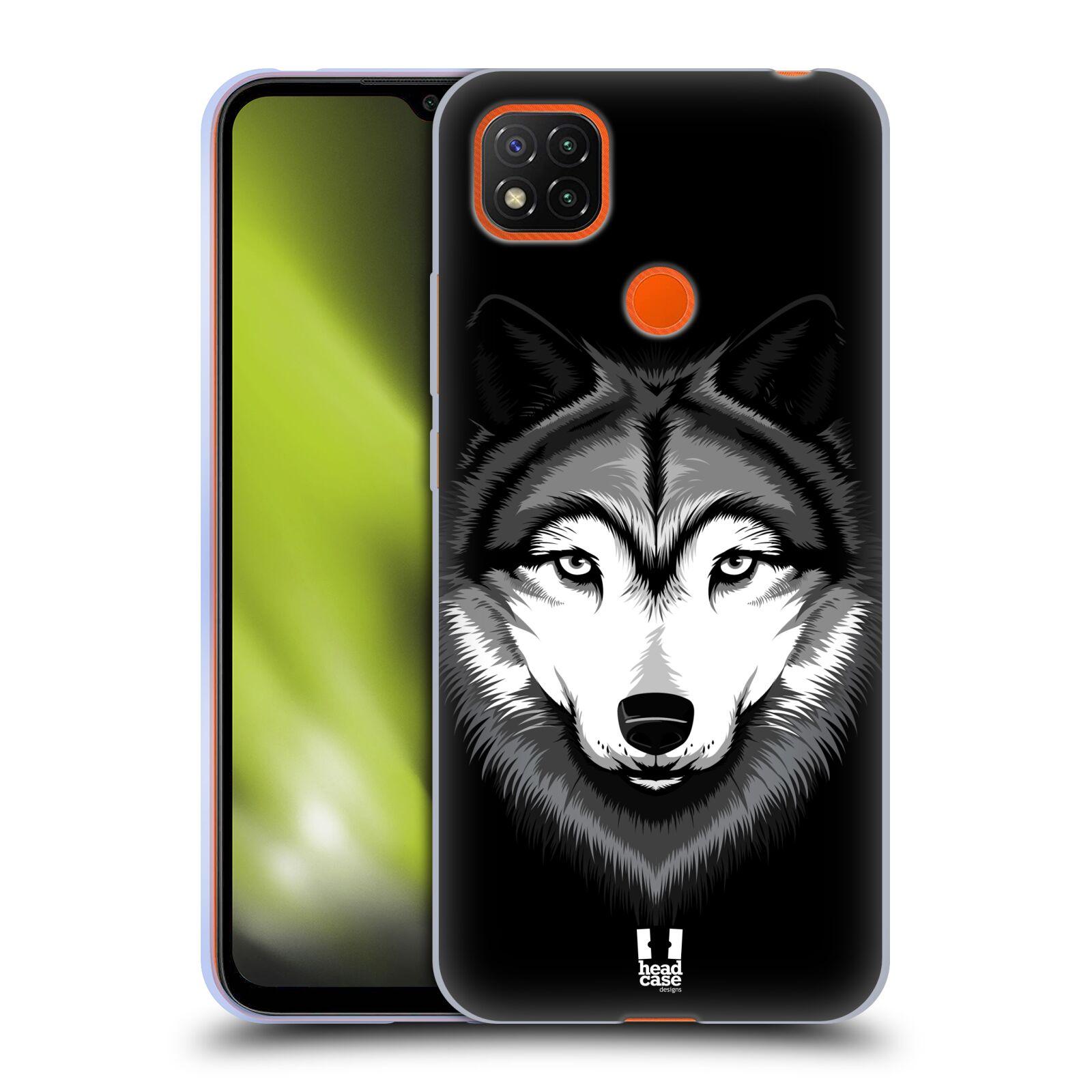 Silikonové pouzdro na mobil Xiaomi Redmi 9C - Head Case - ILUSTROVANÝ VLK