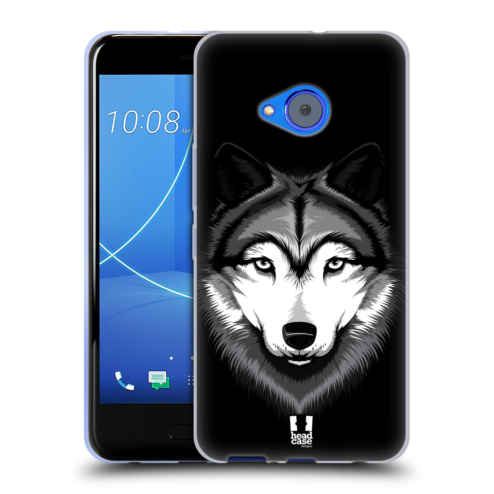 Silikonové pouzdro na mobil HTC U11 Life - Head Case - ILUSTROVANÝ VLK