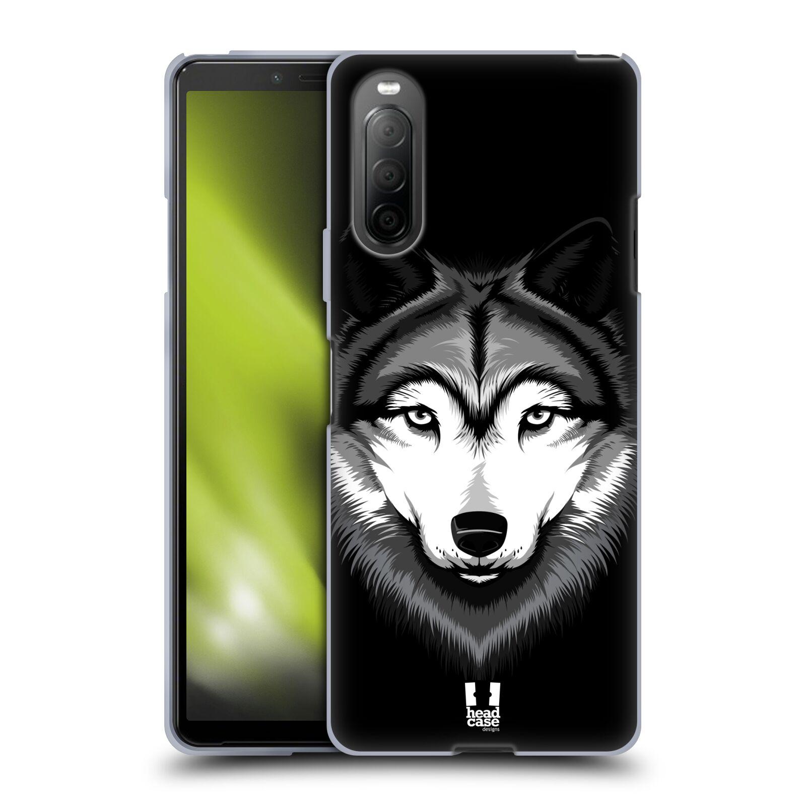 Silikonové pouzdro na mobil Sony Xperia 10 II - Head Case - ILUSTROVANÝ VLK