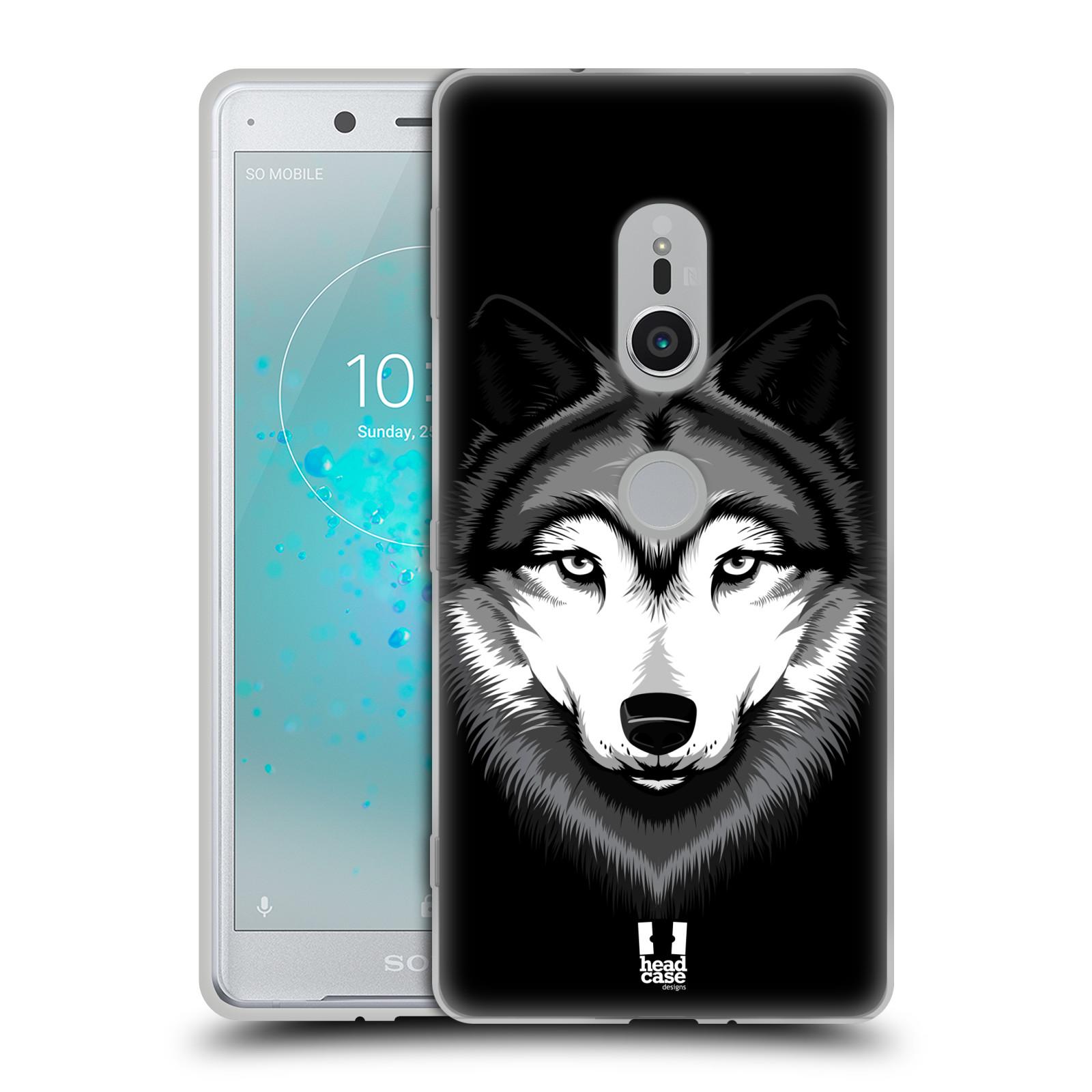 Silikonové pouzdro na mobil Sony Xperia XZ2 - Head Case - ILUSTROVANÝ VLK