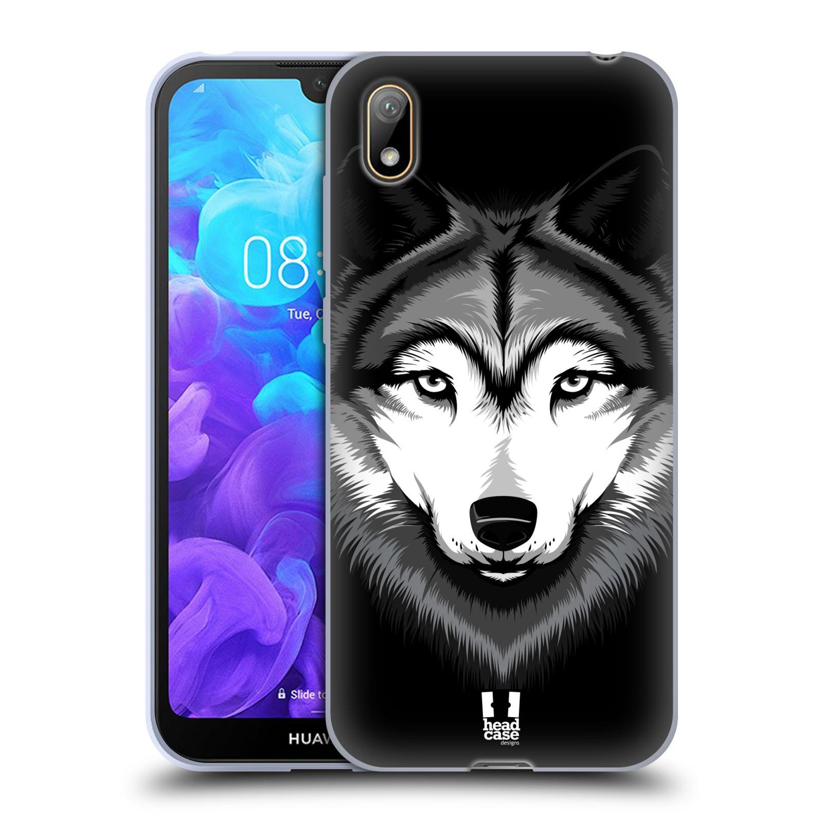 Silikonové pouzdro na mobil Huawei Y5 (2019) - Head Case - ILUSTROVANÝ VLK