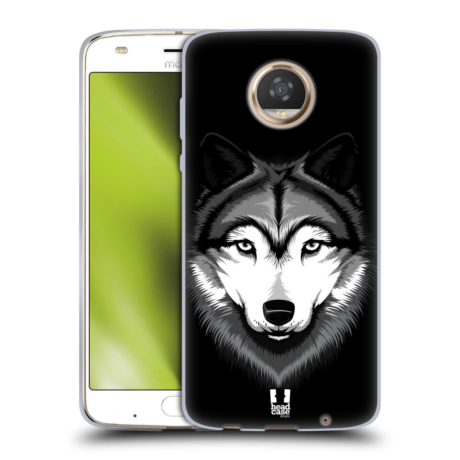Silikonové pouzdro na mobil Lenovo Moto Z2 Play - Head Case - ILUSTROVANÝ VLK