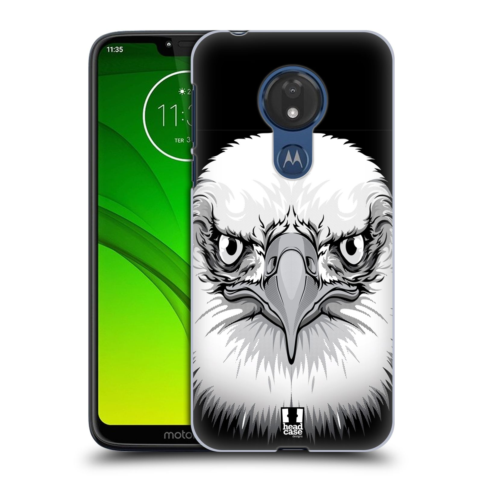 Plastové pouzdro na mobil Motorola Moto G7 Power - Head Case - ILUSTROVANÝ OREL