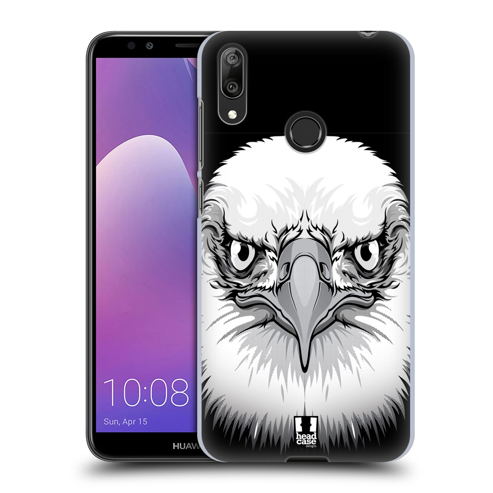 Plastové pouzdro na mobil Huawei Y7 (2019) - Head Case - ILUSTROVANÝ OREL