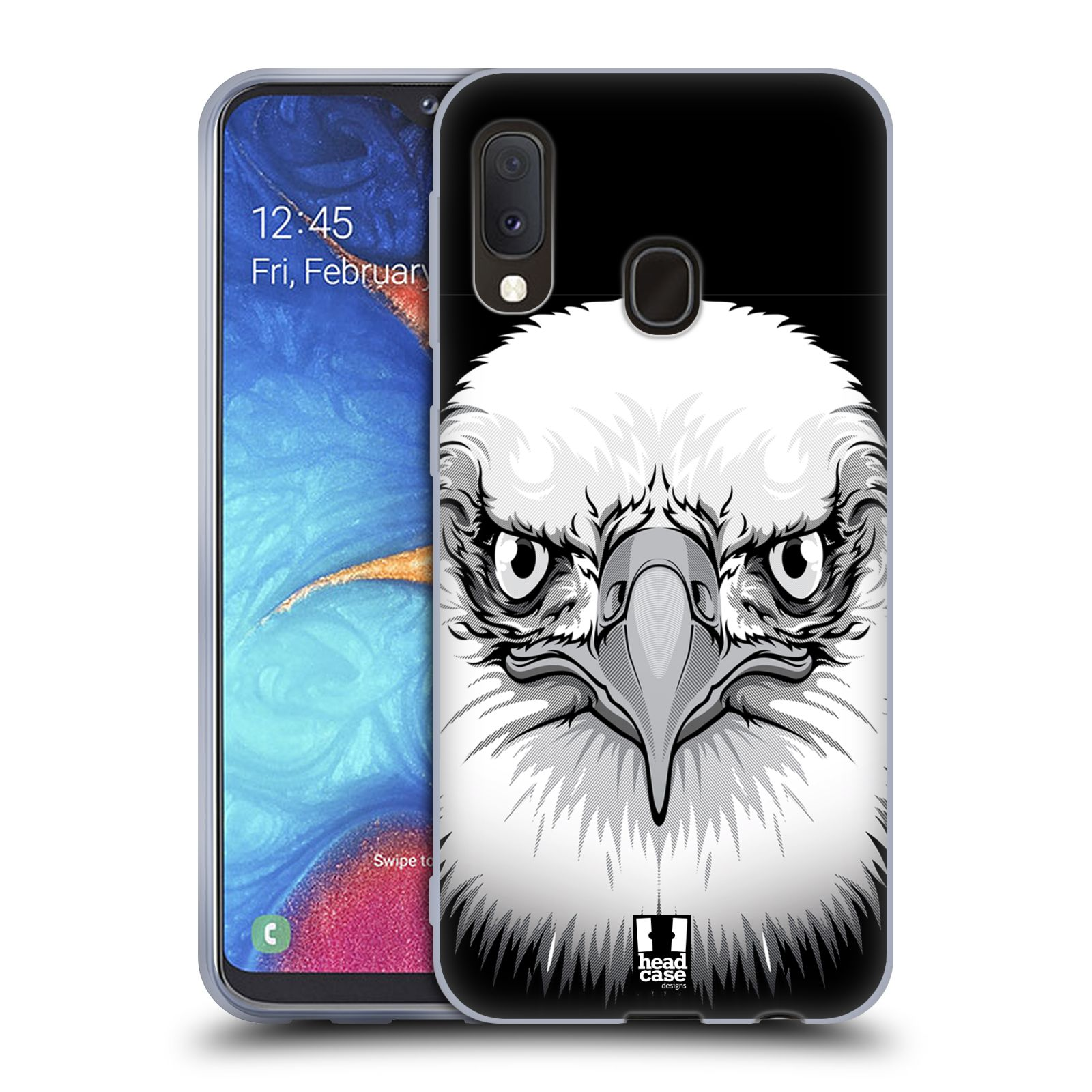 Silikonové pouzdro na mobil Samsung Galaxy A20e - Head Case - ILUSTROVANÝ OREL