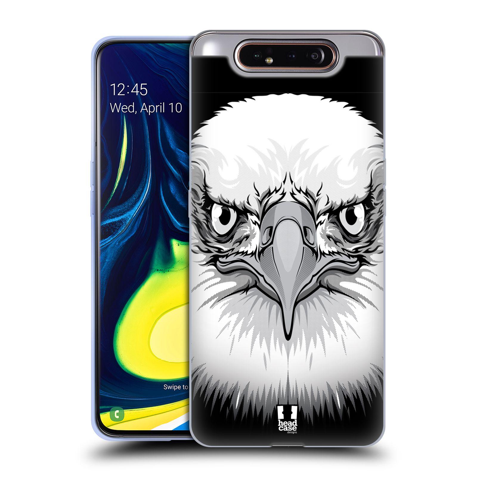 Silikonové pouzdro na mobil Samsung Galaxy A80 - Head Case - ILUSTROVANÝ OREL