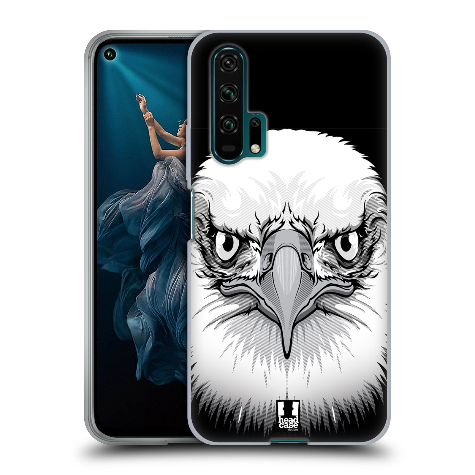 Silikonové pouzdro na mobil Honor 20 Pro - Head Case - ILUSTROVANÝ OREL