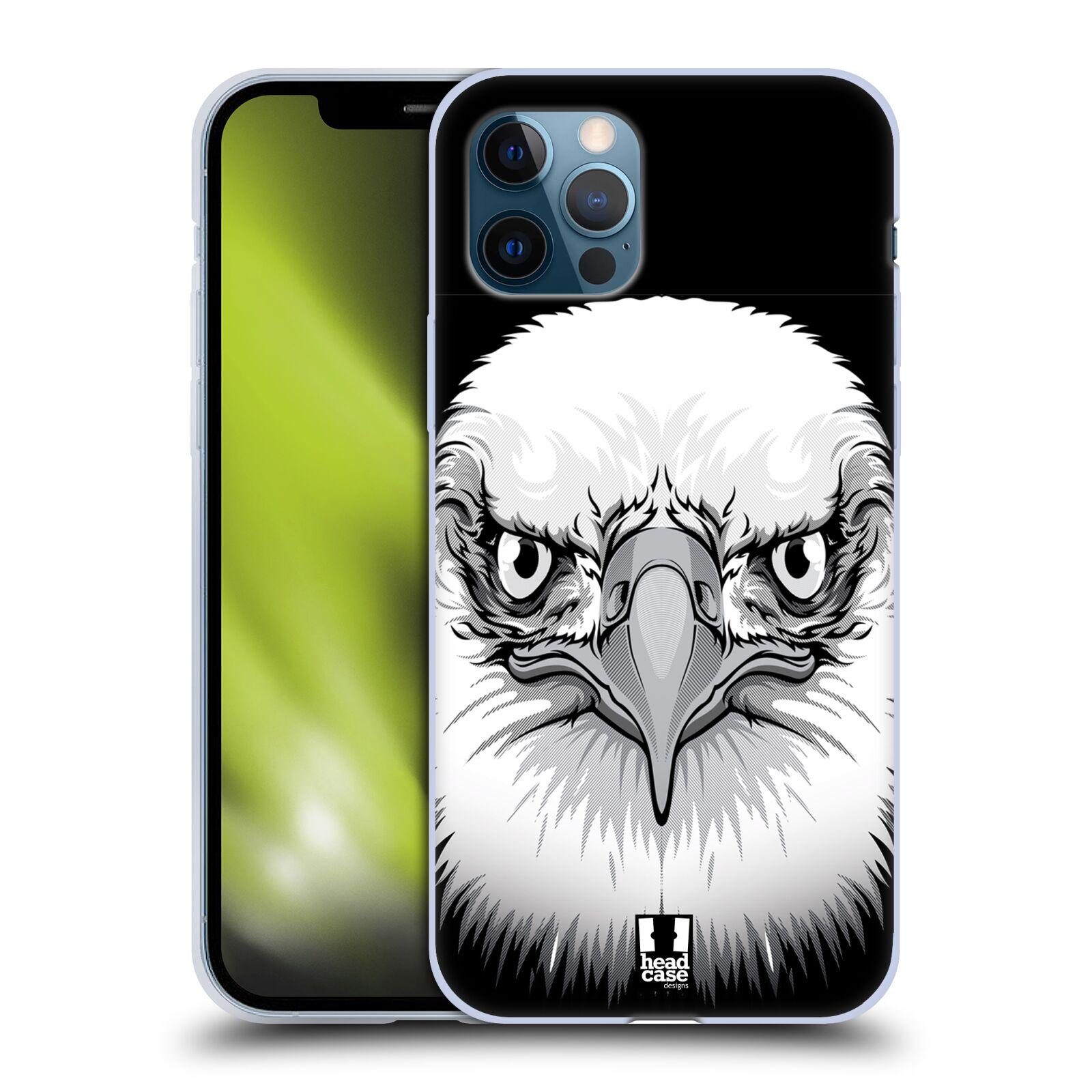 Silikonové pouzdro na mobil Apple iPhone 12 / 12 Pro - Head Case - ILUSTROVANÝ OREL
