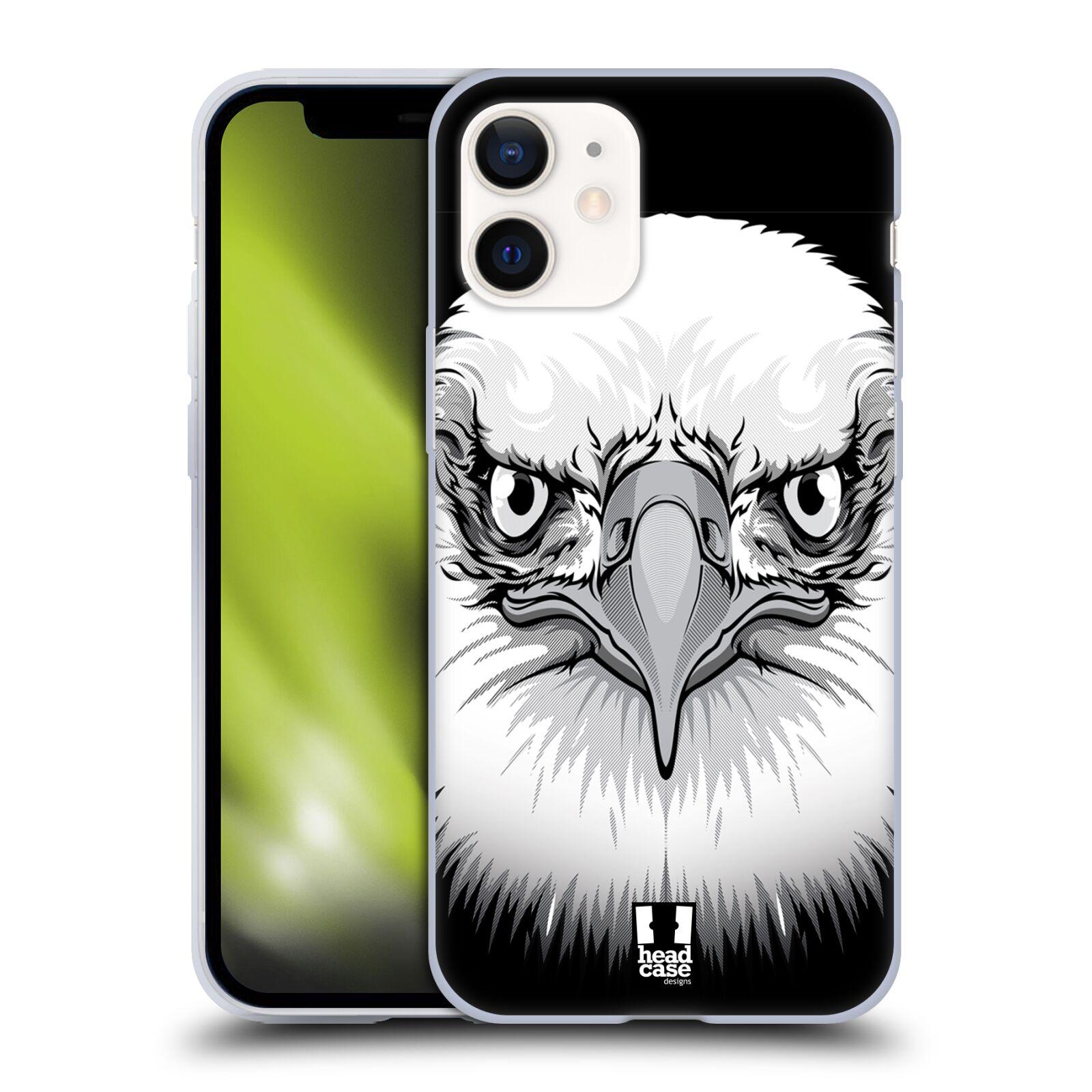 Silikonové pouzdro na mobil Apple iPhone 12 Mini - Head Case - ILUSTROVANÝ OREL
