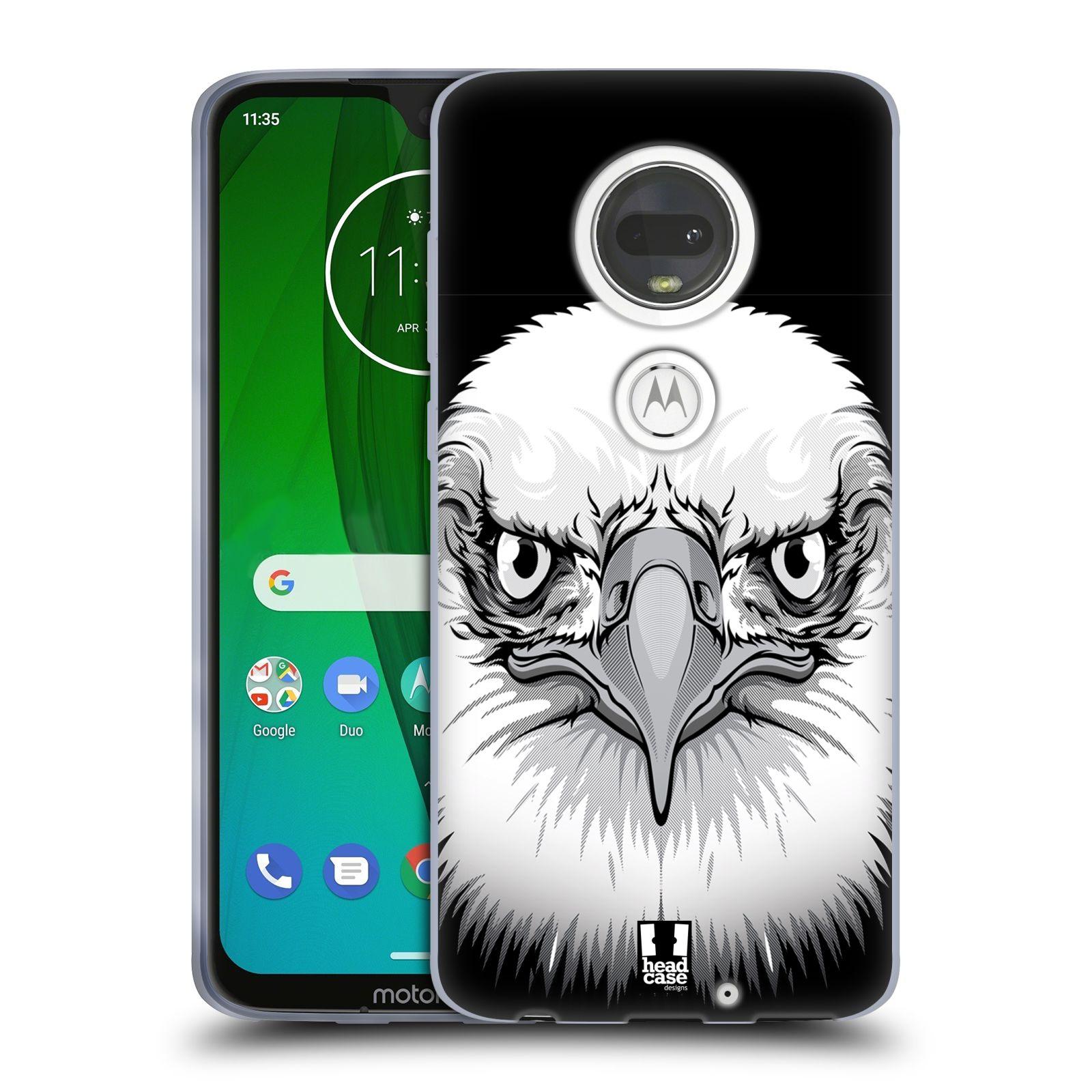 Silikonové pouzdro na mobil Motorola Moto G7 - Head Case - ILUSTROVANÝ OREL