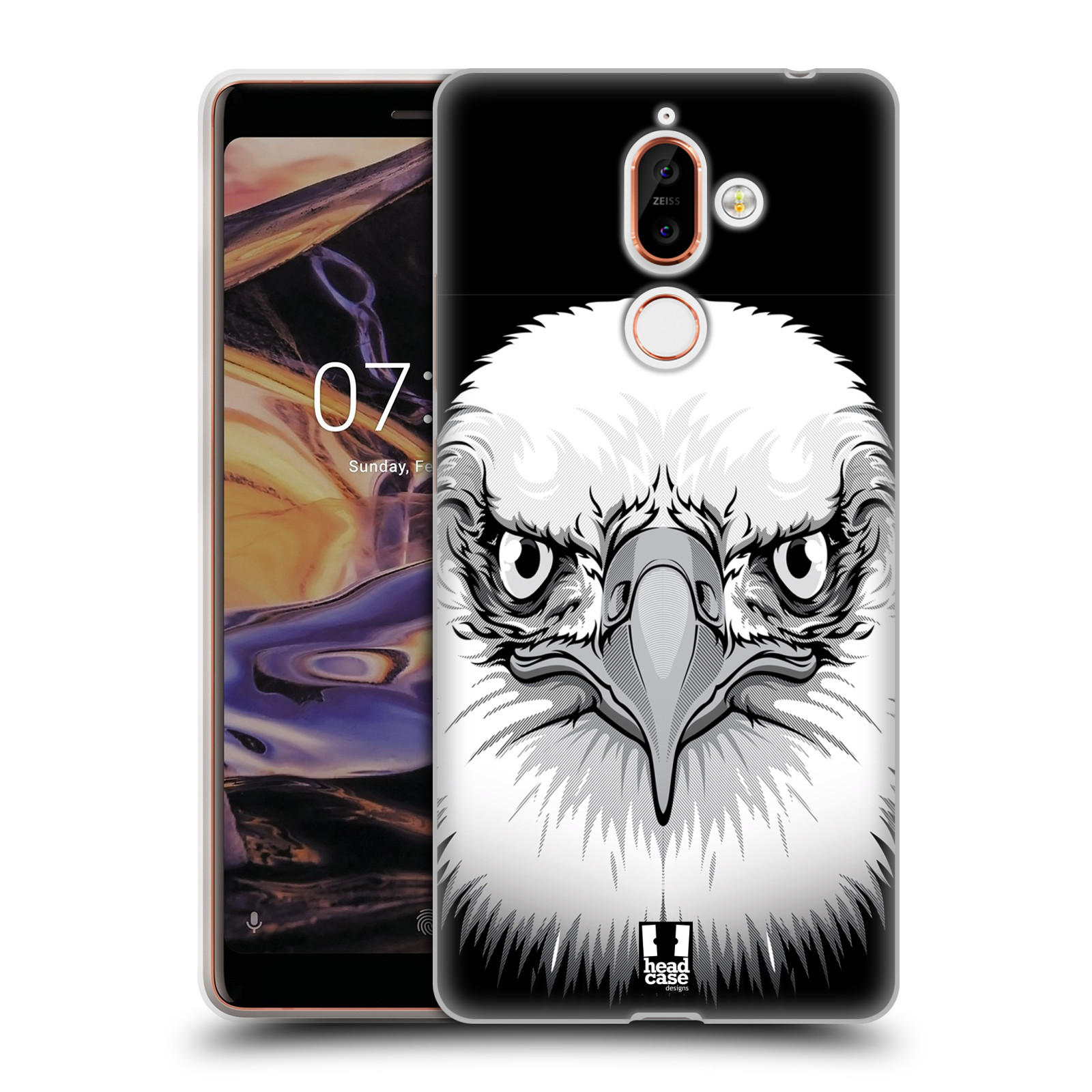 Silikonové pouzdro na mobil Nokia 7 Plus - Head Case - ILUSTROVANÝ OREL