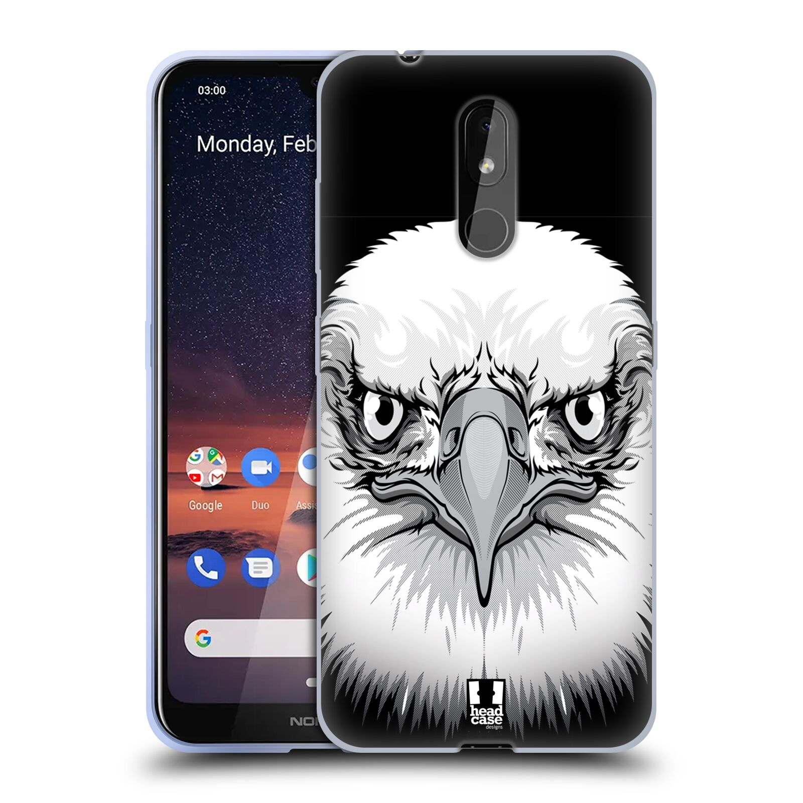Silikonové pouzdro na mobil Nokia 3.2 - Head Case - ILUSTROVANÝ OREL