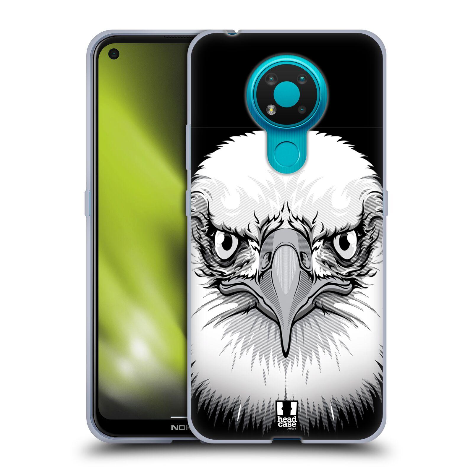 Silikonové pouzdro na mobil Nokia 3.4 - Head Case - ILUSTROVANÝ OREL