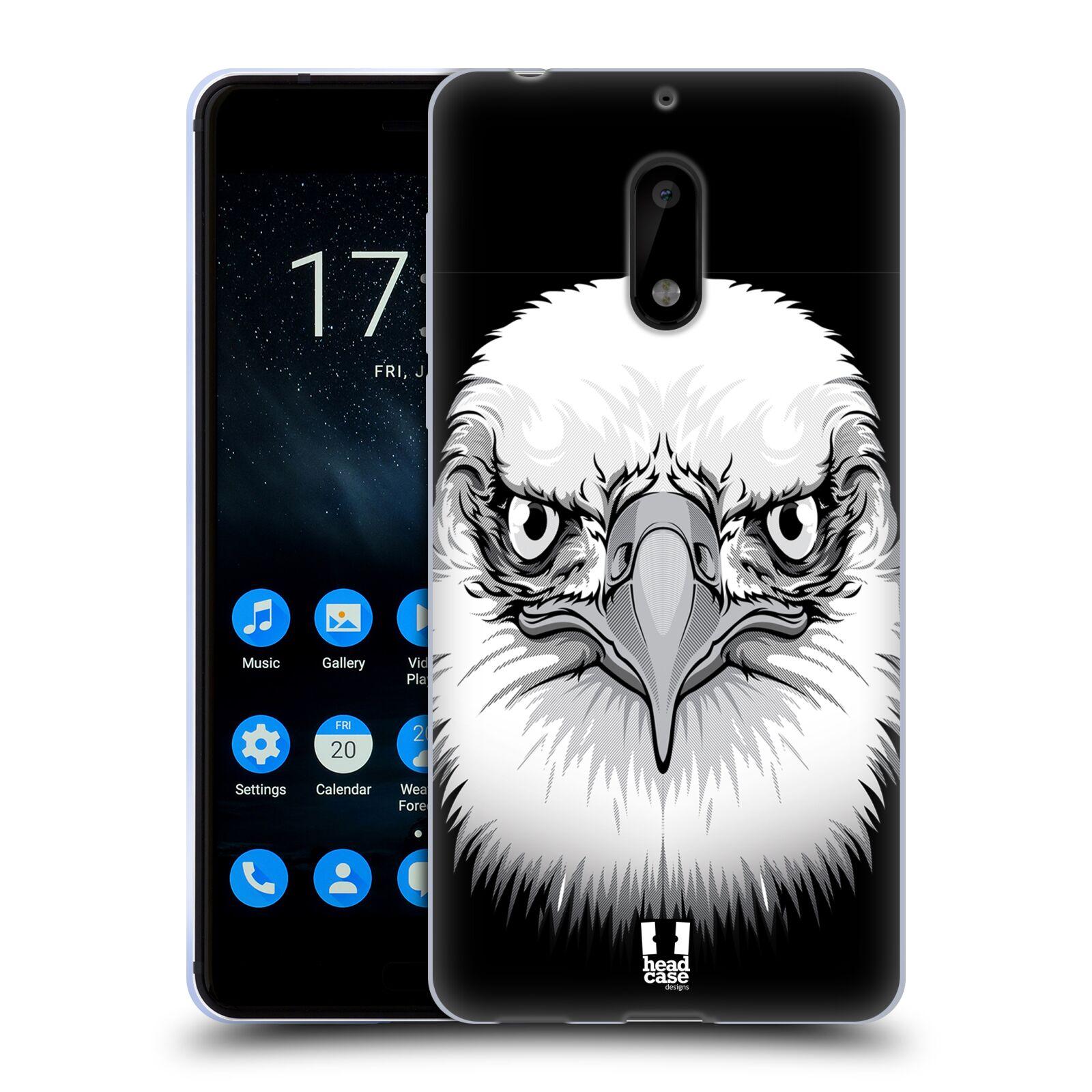Silikonové pouzdro na mobil Nokia 6 - Head Case - ILUSTROVANÝ OREL
