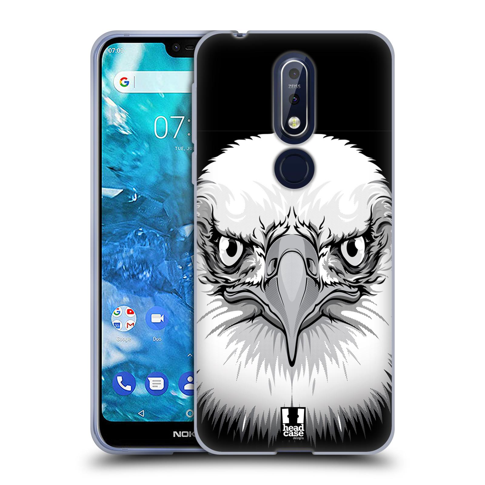 Silikonové pouzdro na mobil Nokia 7.1 - Head Case - ILUSTROVANÝ OREL