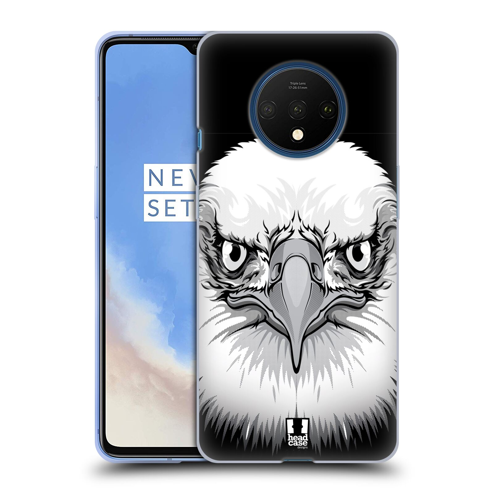 Silikonové pouzdro na mobil OnePlus 7T - Head Case - ILUSTROVANÝ OREL