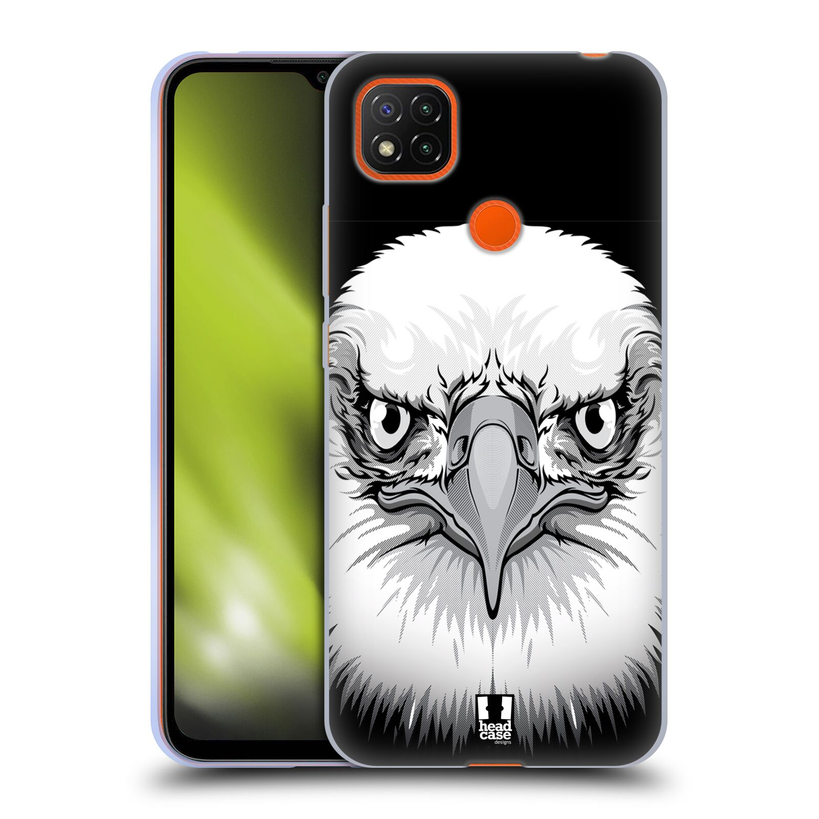 Silikonové pouzdro na mobil Xiaomi Redmi 9C - Head Case - ILUSTROVANÝ OREL