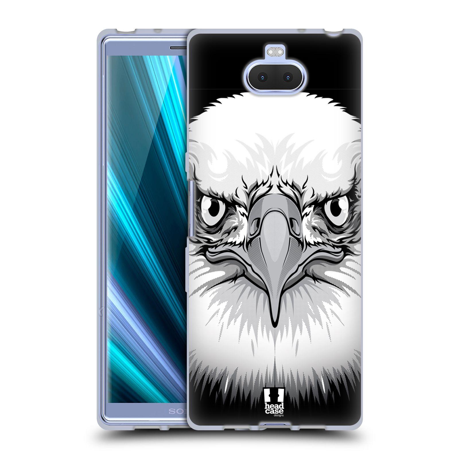 Silikonové pouzdro na mobil Sony Xperia 10 - Head Case - ILUSTROVANÝ OREL