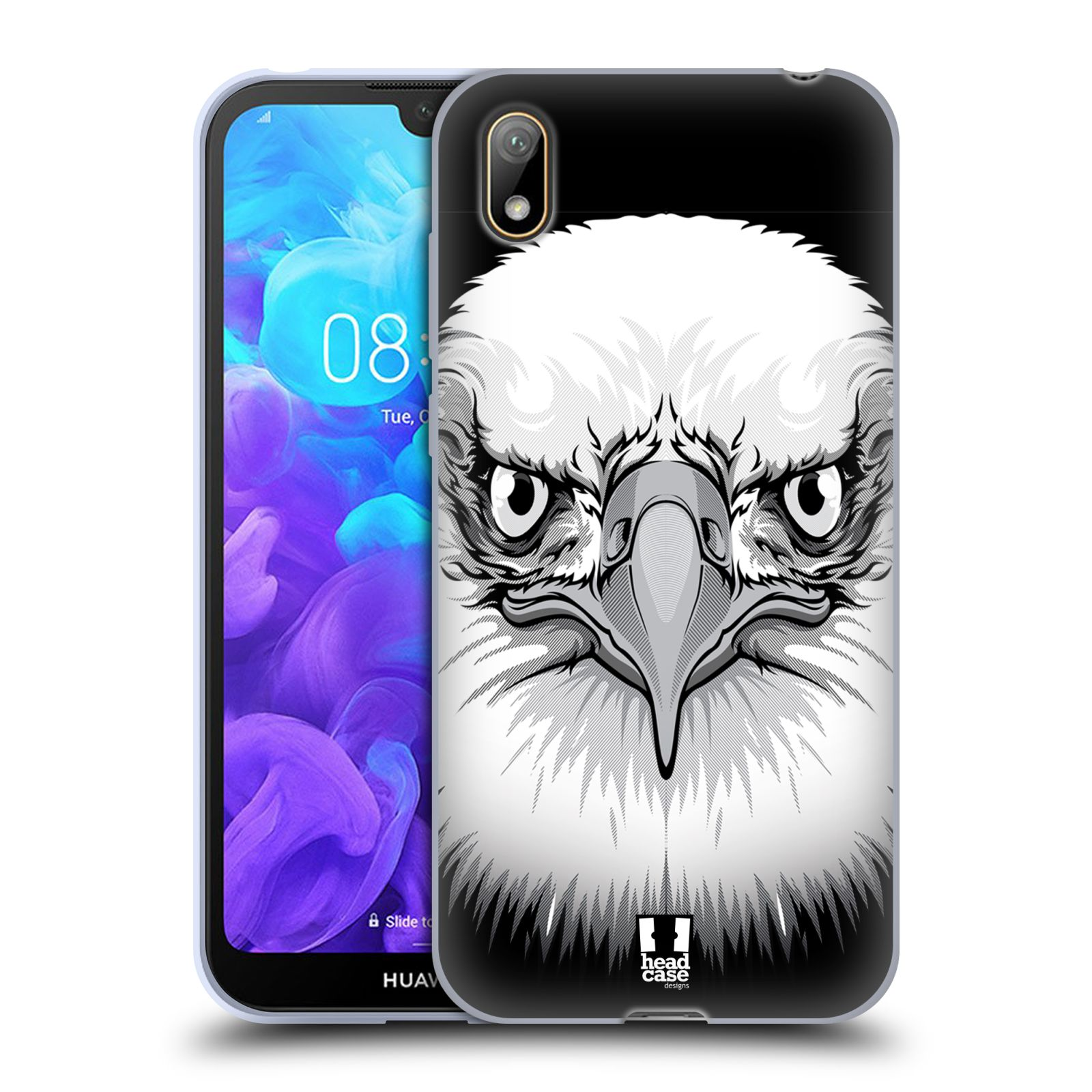 Silikonové pouzdro na mobil Huawei Y5 (2019) - Head Case - ILUSTROVANÝ OREL