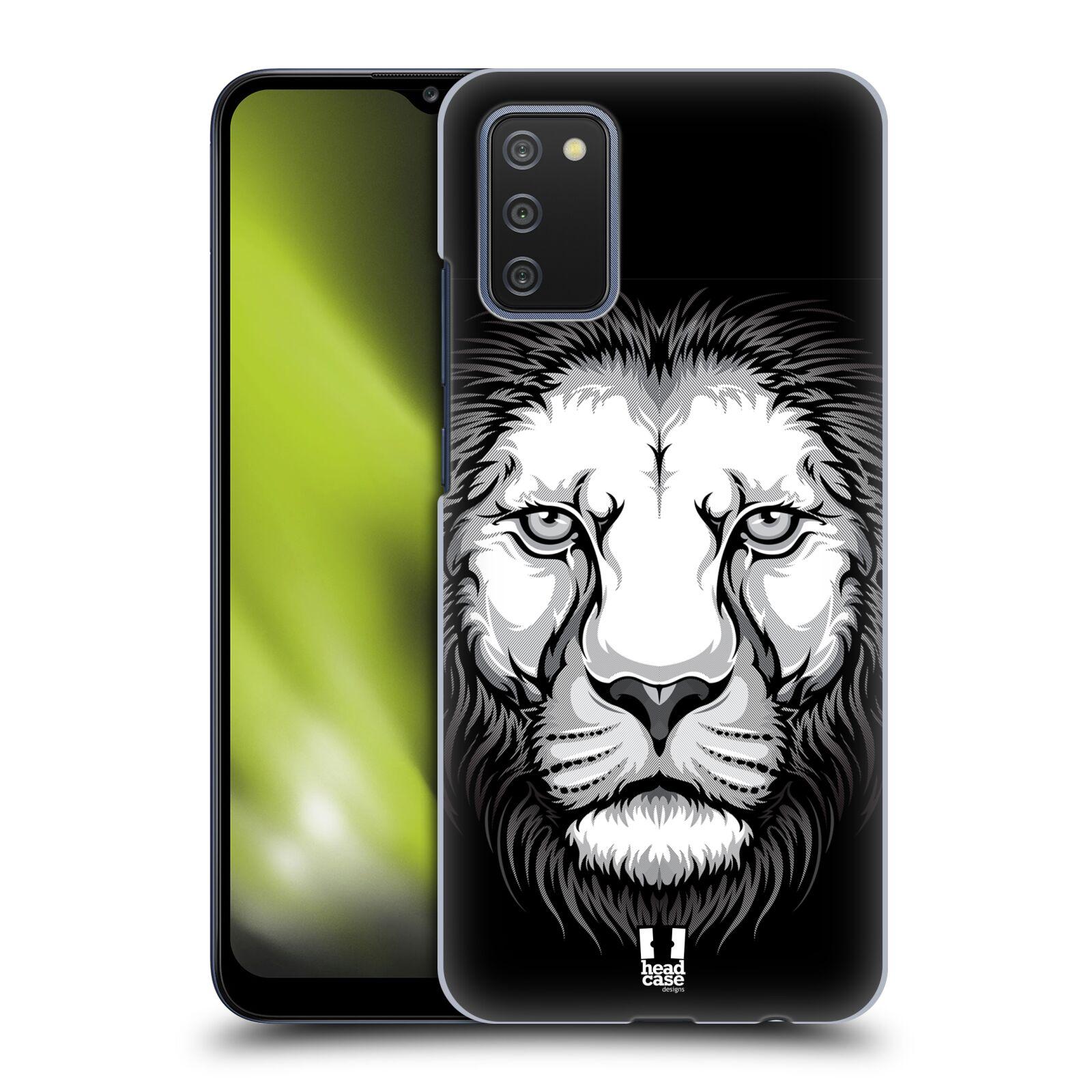 Plastové pouzdro na mobil Samsung Galaxy A02s - Head Case - ILUSTROVANÝ LEV