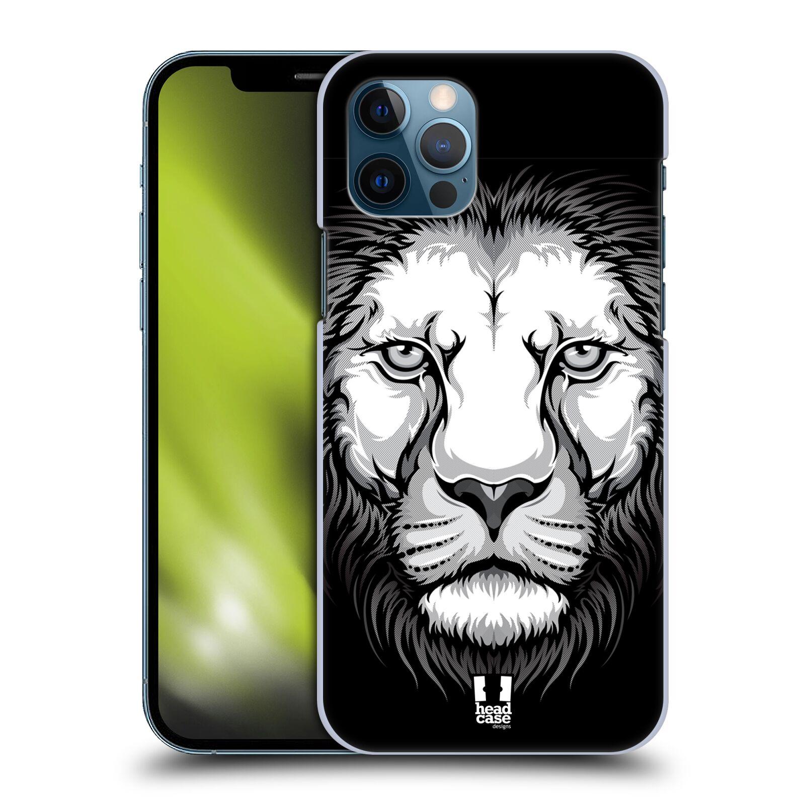 Plastové pouzdro na mobil Apple iPhone 12 / 12 Pro - Head Case - ILUSTROVANÝ LEV