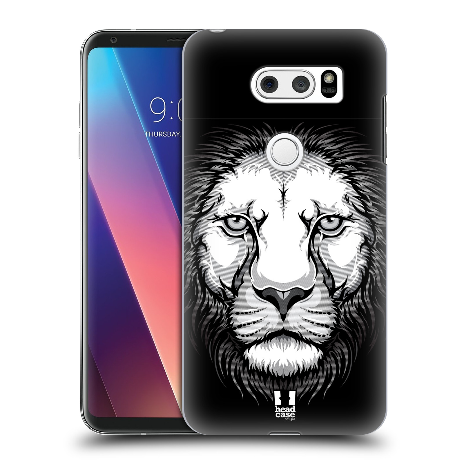 Plastové pouzdro na mobil LG V30 - Head Case - ILUSTROVANÝ LEV