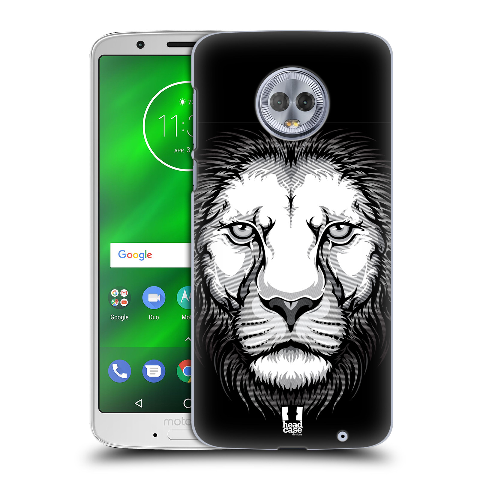 Plastové pouzdro na mobil Motorola Moto G6 Plus - Head Case - ILUSTROVANÝ LEV