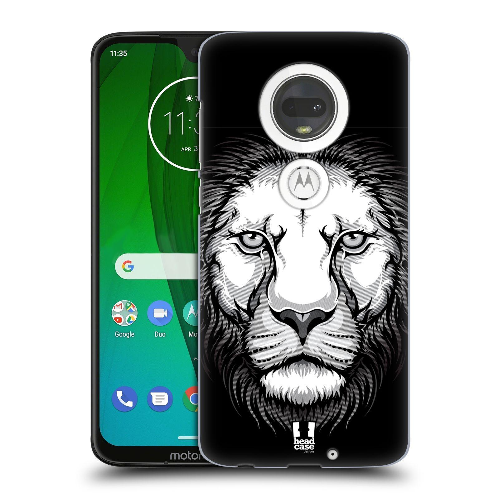Plastové pouzdro na mobil Motorola Moto G7 - Head Case - ILUSTROVANÝ LEV
