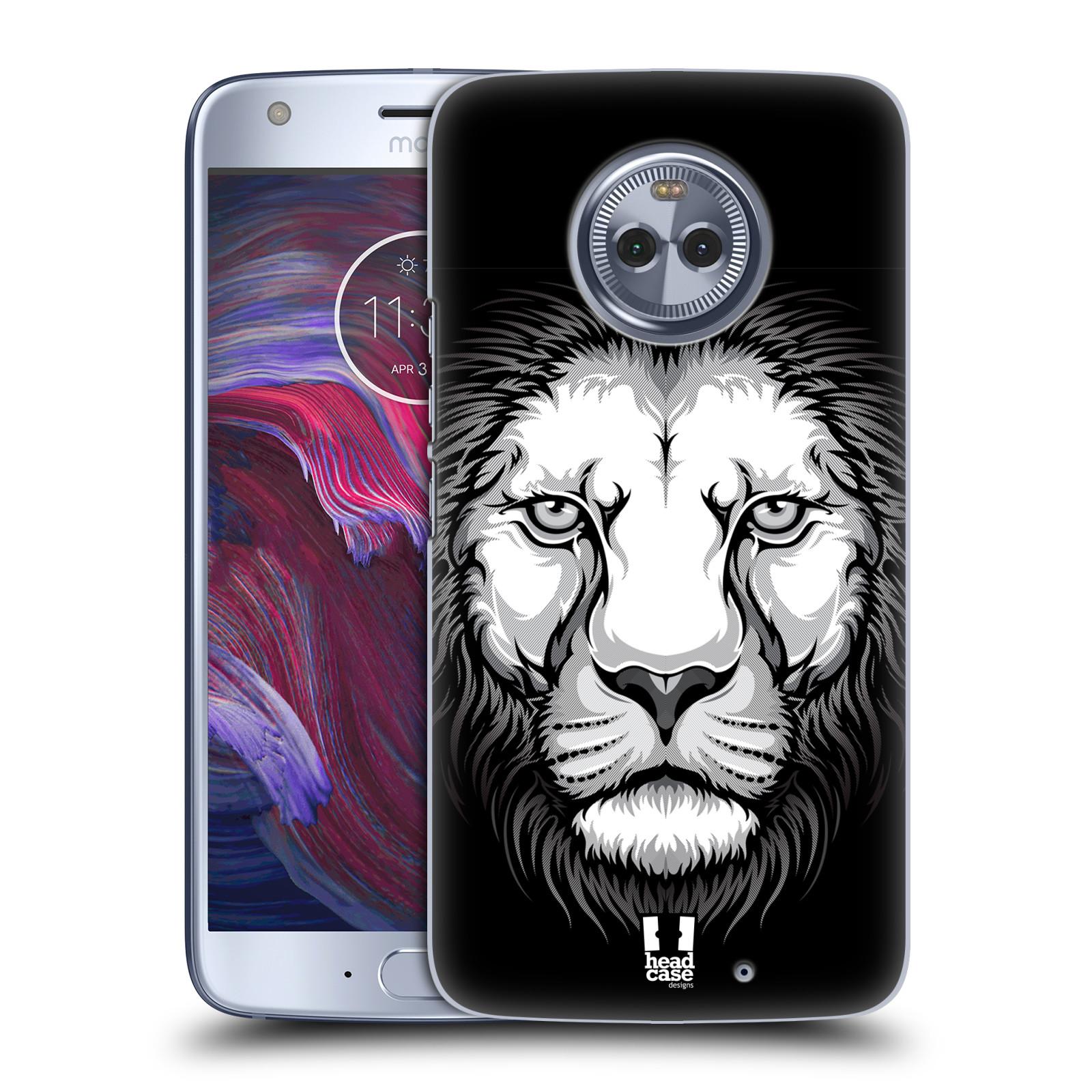 Plastové pouzdro na mobil Lenovo Moto X4 - Head Case - ILUSTROVANÝ LEV