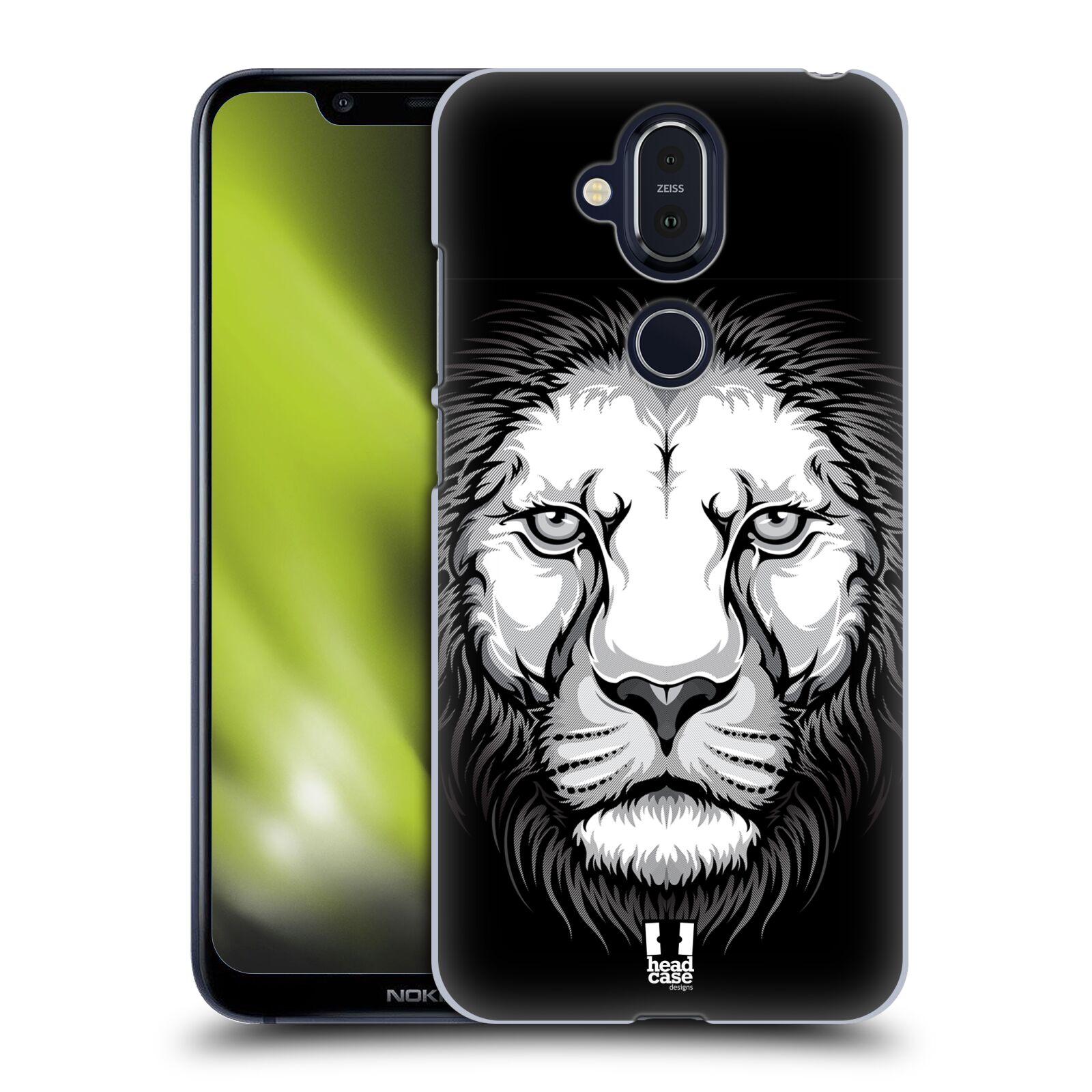 Plastové pouzdro na mobil Nokia 8.1 - Head Case - ILUSTROVANÝ LEV