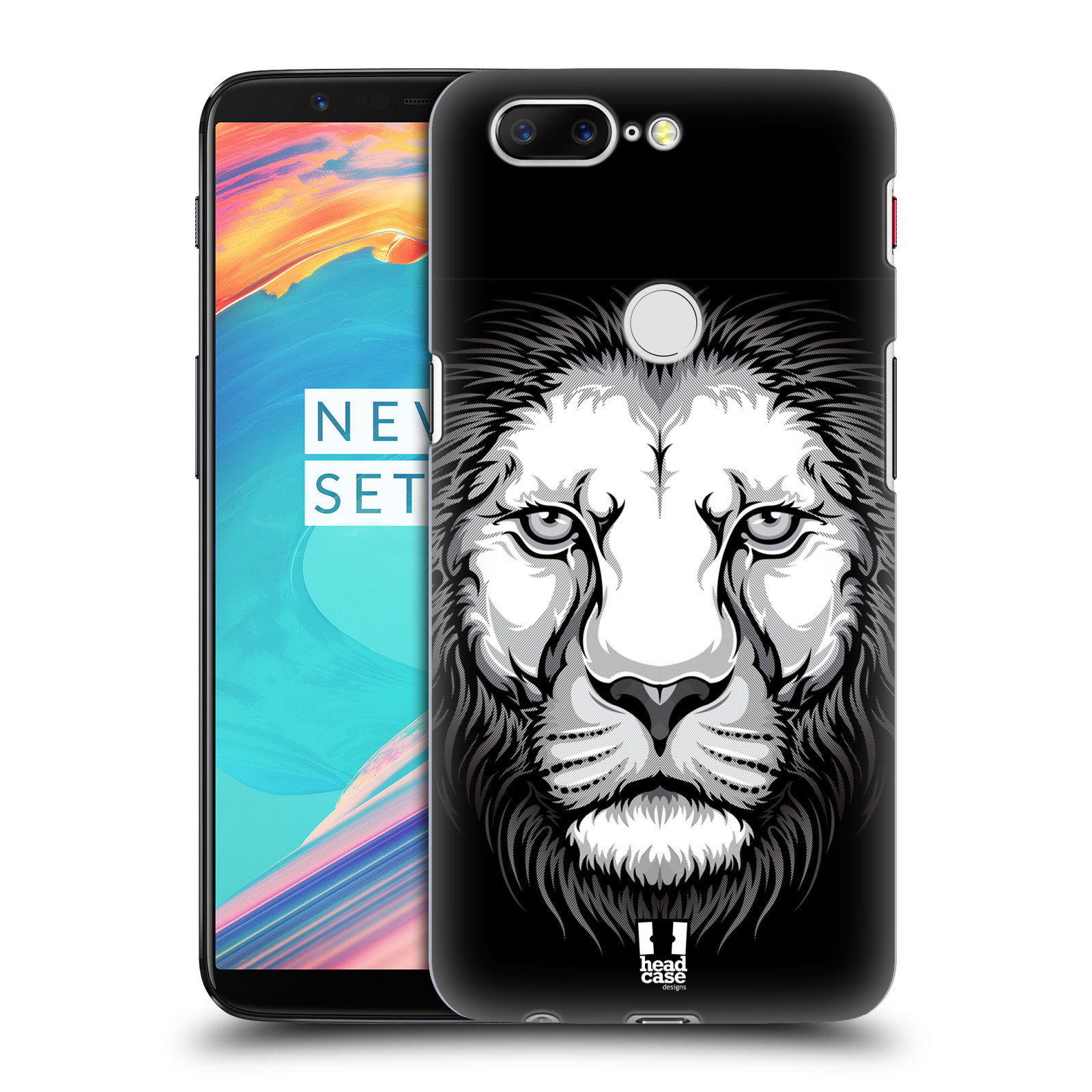 Plastové pouzdro na mobil OnePlus 5T - Head Case - ILUSTROVANÝ LEV