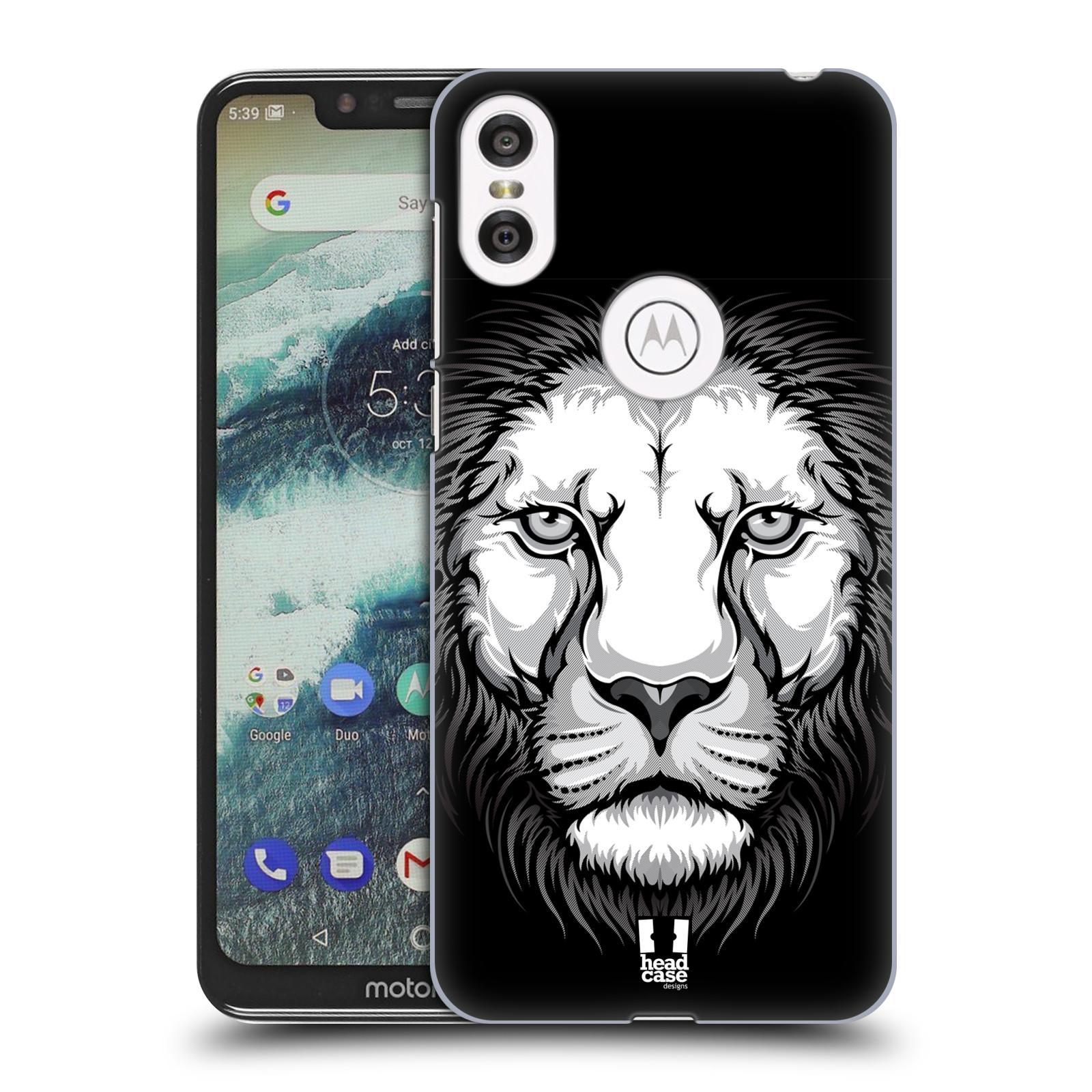 Plastové pouzdro na mobil Motorola One - Head Case - ILUSTROVANÝ LEV