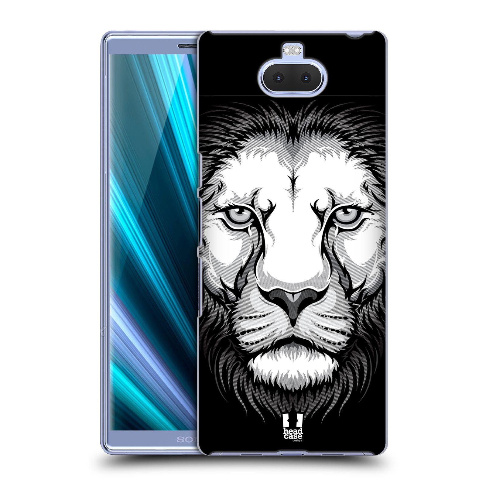 Plastové pouzdro na mobil Sony Xperia 10 Plus - Head Case - ILUSTROVANÝ LEV