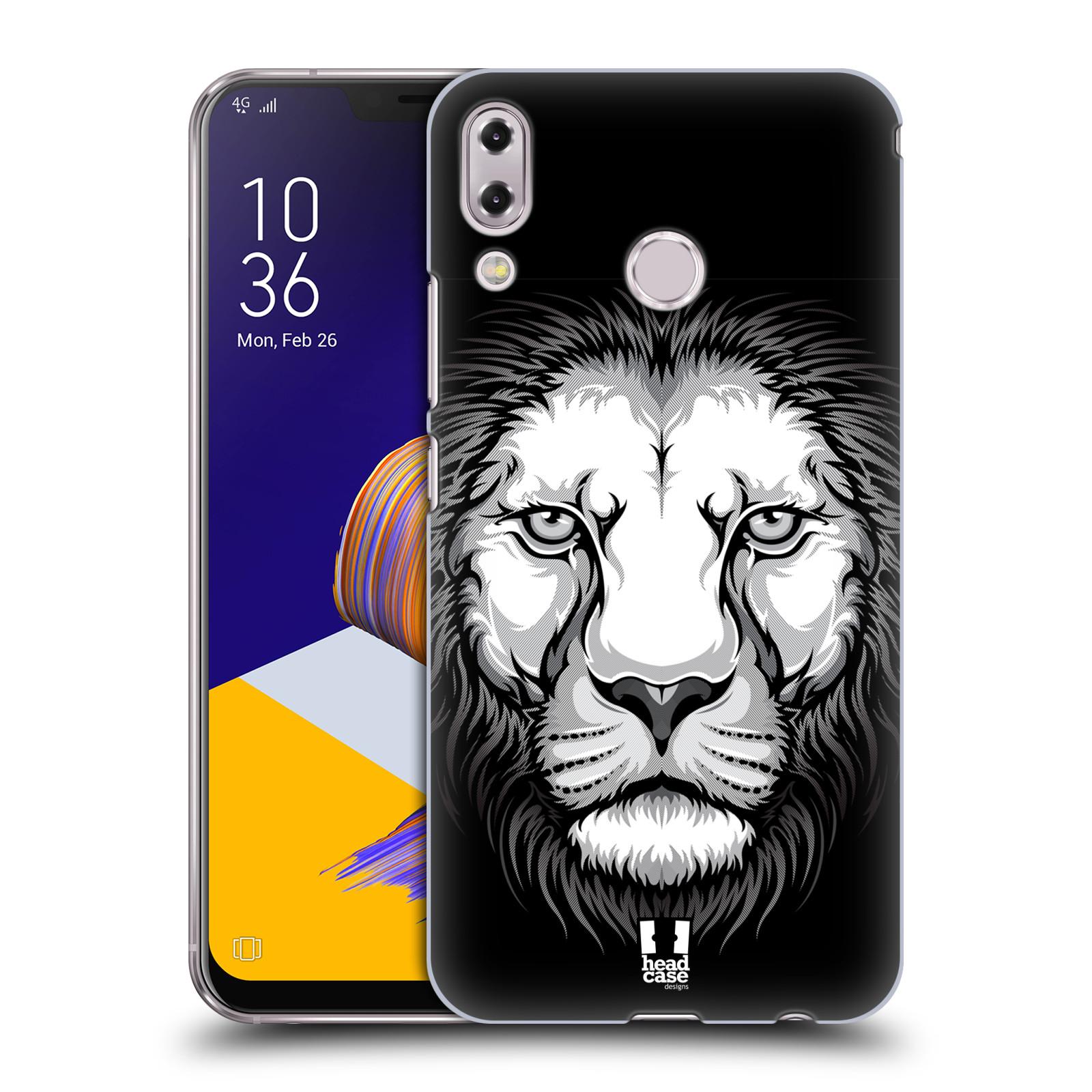 Plastové pouzdro na mobil Asus Zenfone 5z ZS620KL - Head Case - ILUSTROVANÝ LEV