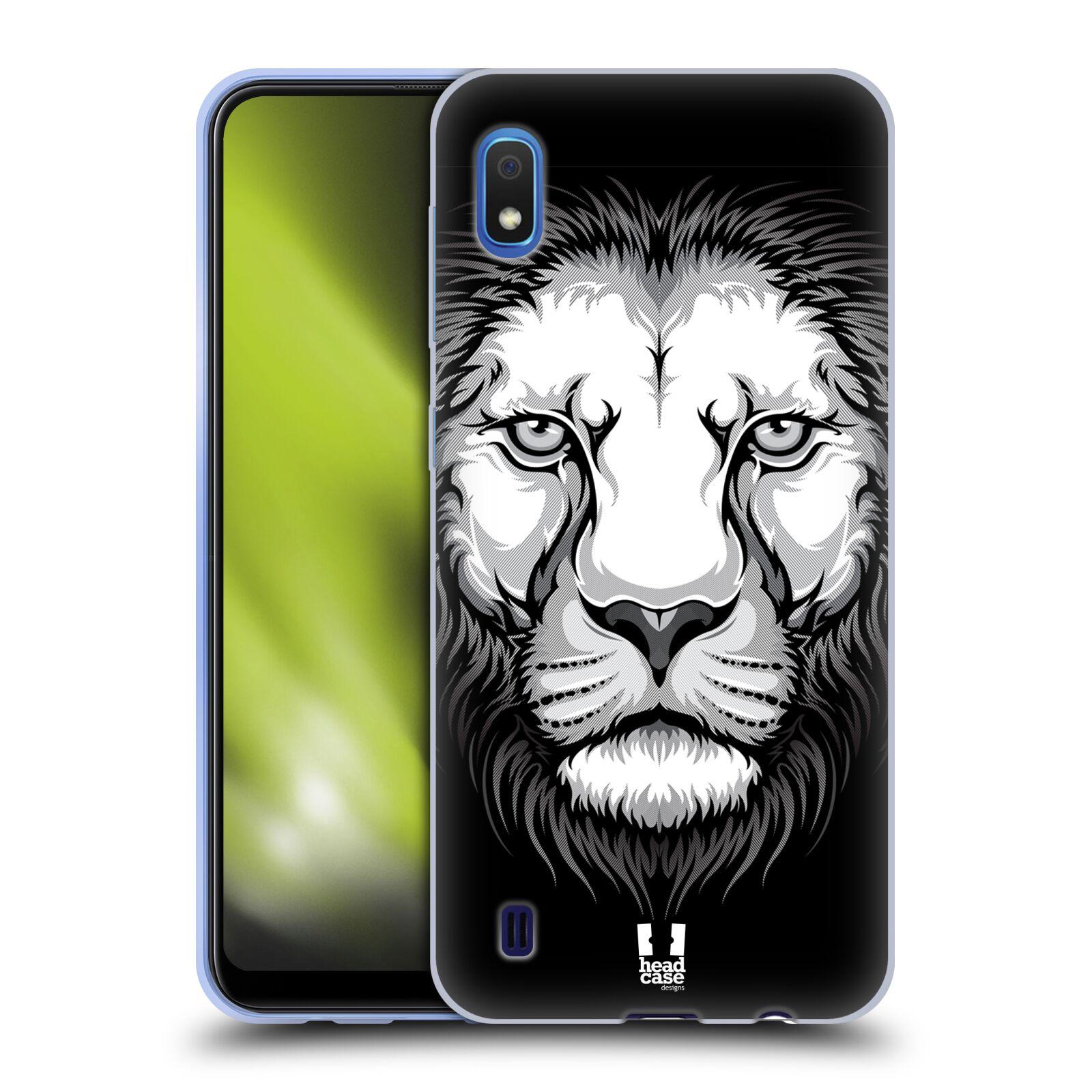 Silikonové pouzdro na mobil Samsung Galaxy A10 - Head Case - ILUSTROVANÝ LEV
