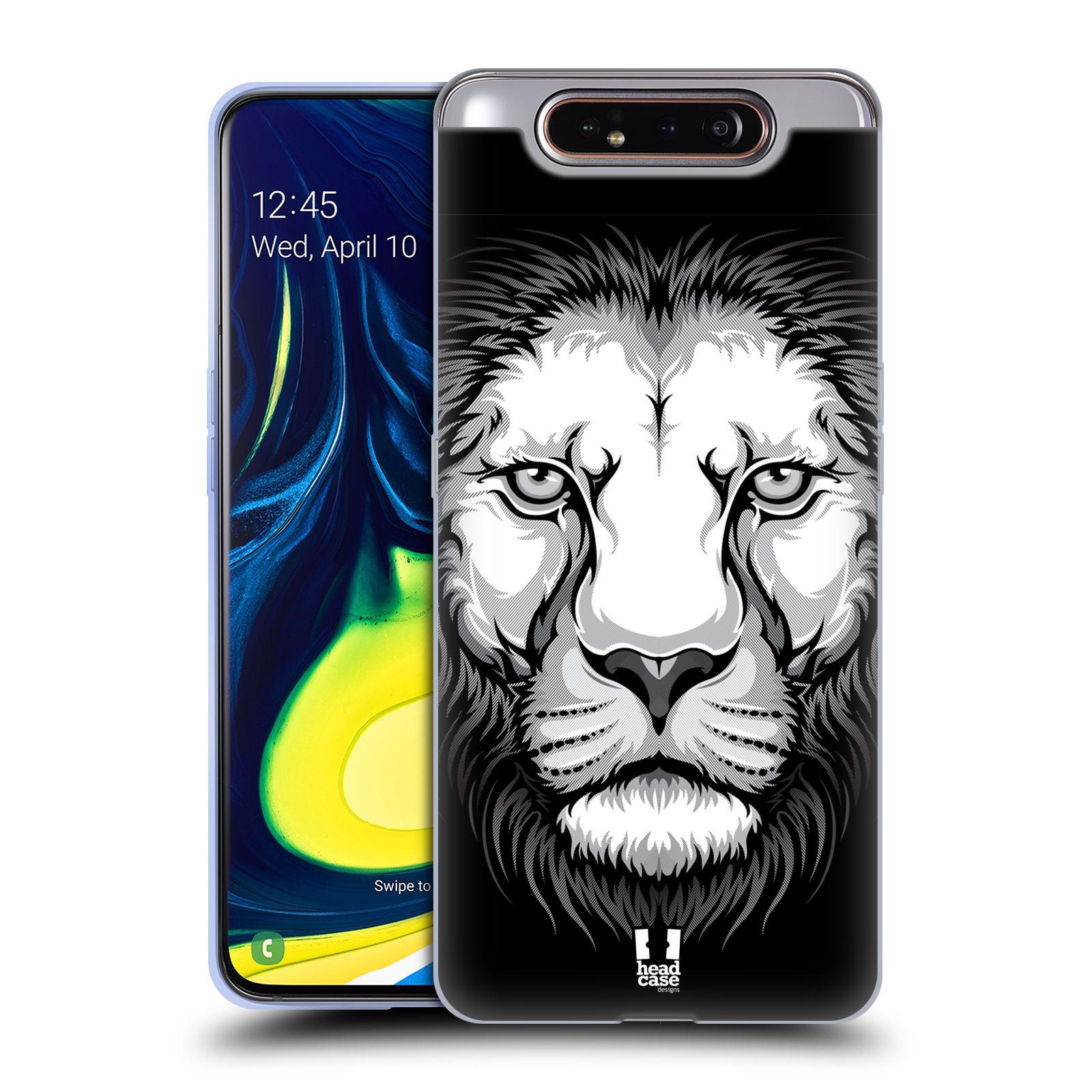 Silikonové pouzdro na mobil Samsung Galaxy A80 - Head Case - ILUSTROVANÝ LEV