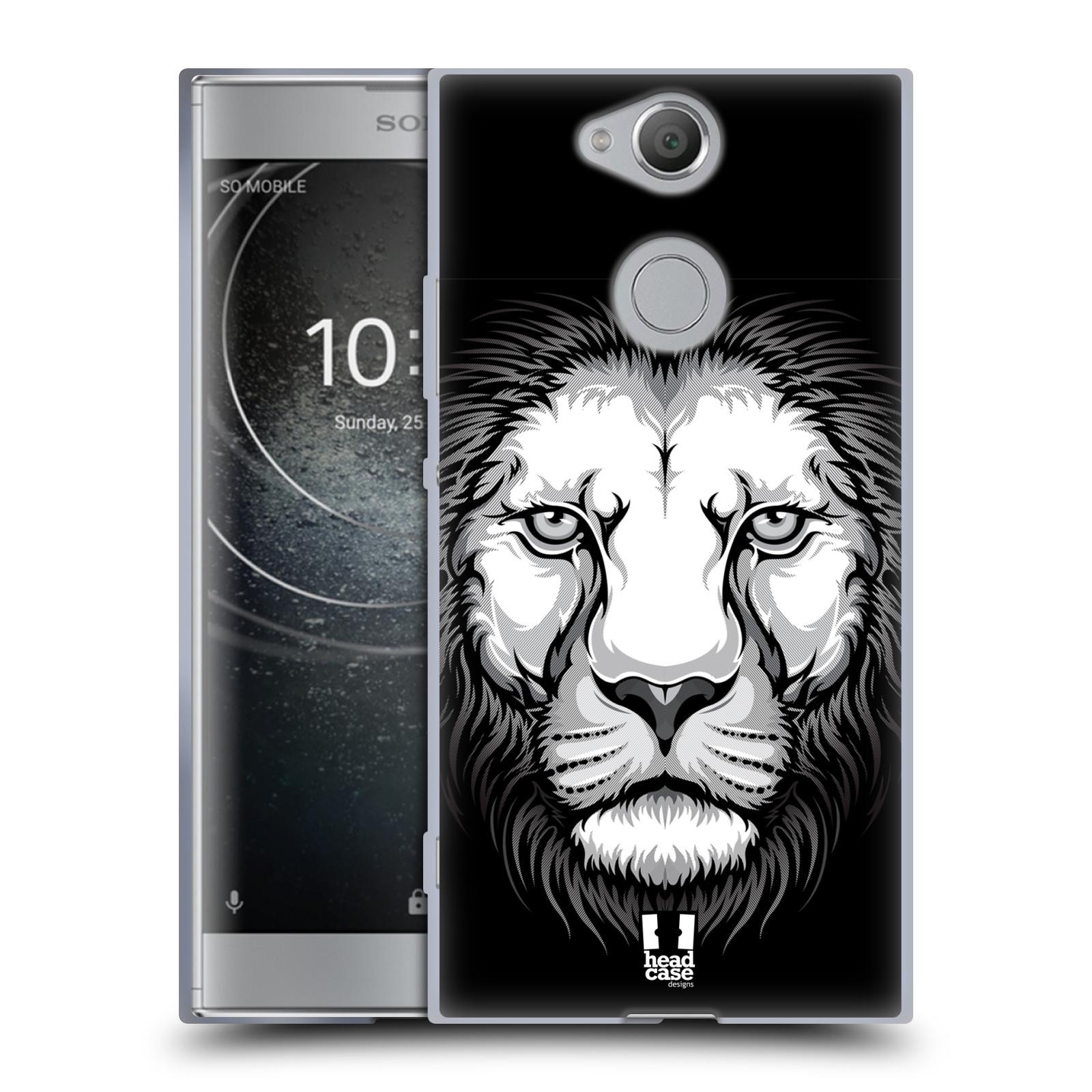 Silikonové pouzdro na mobil Sony Xperia XA2 - Head Case - ILUSTROVANÝ LEV