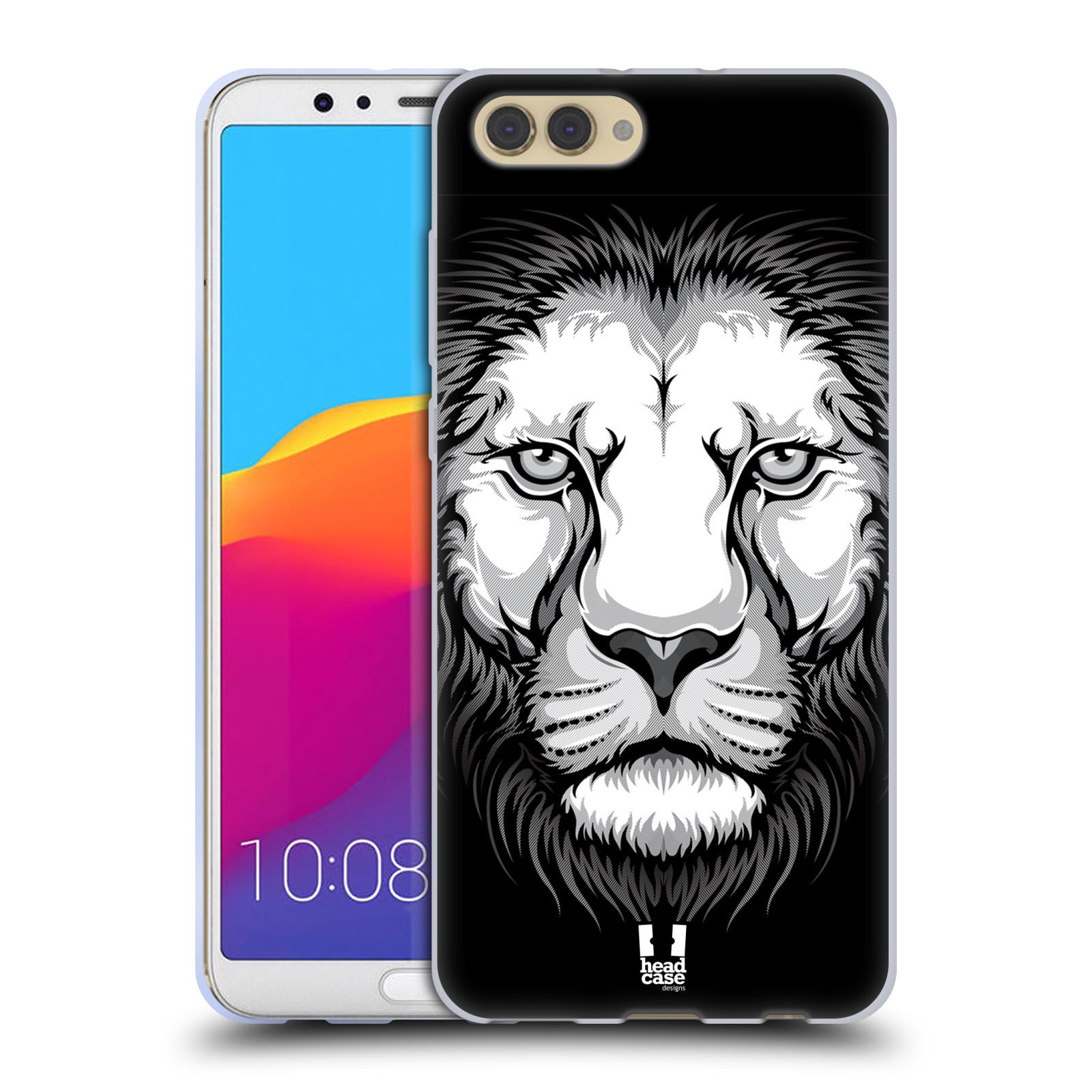 Silikonové pouzdro na mobil Honor View 10 - Head Case - ILUSTROVANÝ LEV