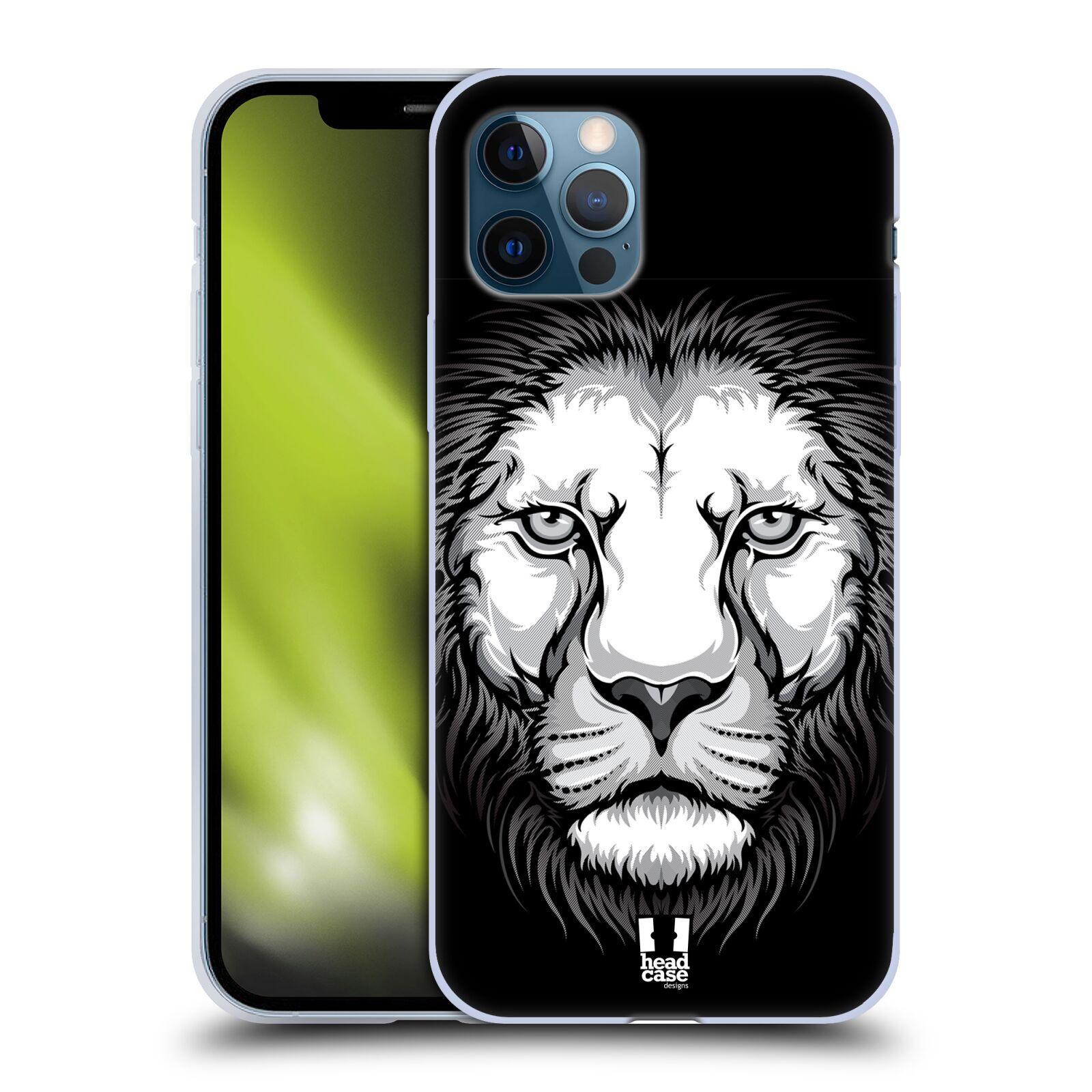 Silikonové pouzdro na mobil Apple iPhone 12 / 12 Pro - Head Case - ILUSTROVANÝ LEV