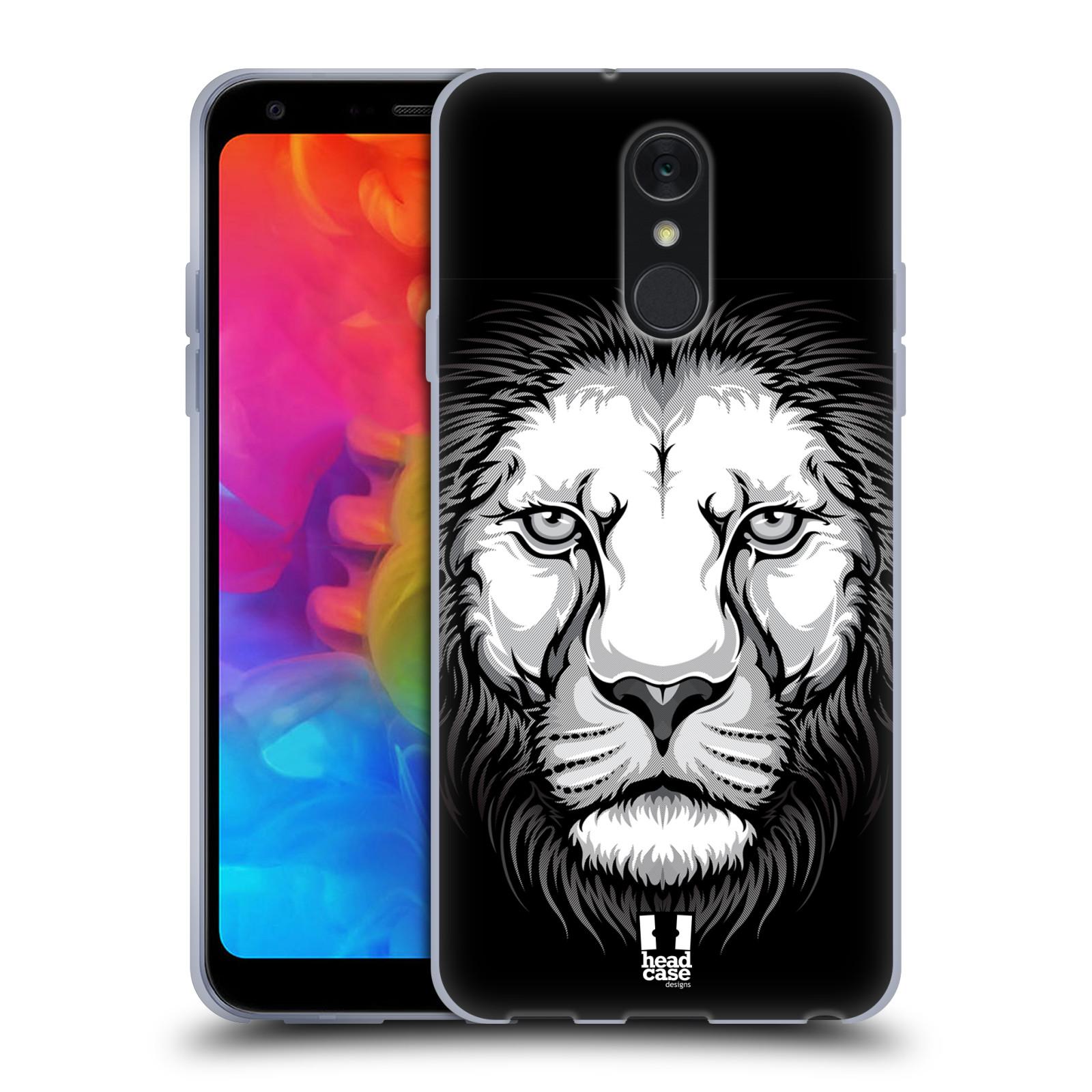 Silikonové pouzdro na mobil LG Q7 - Head Case - ILUSTROVANÝ LEV
