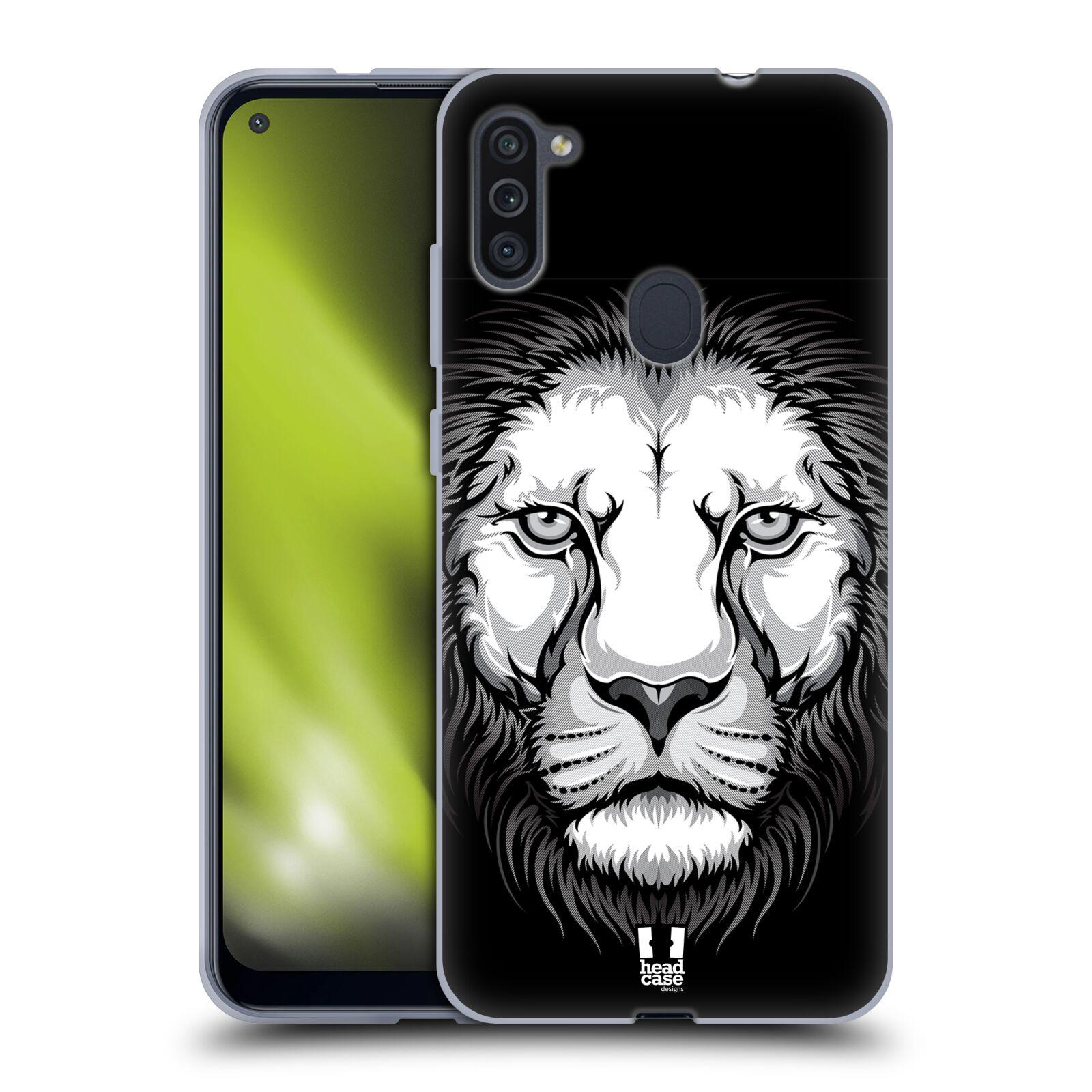 Silikonové pouzdro na mobil Samsung Galaxy M11 - Head Case - ILUSTROVANÝ LEV
